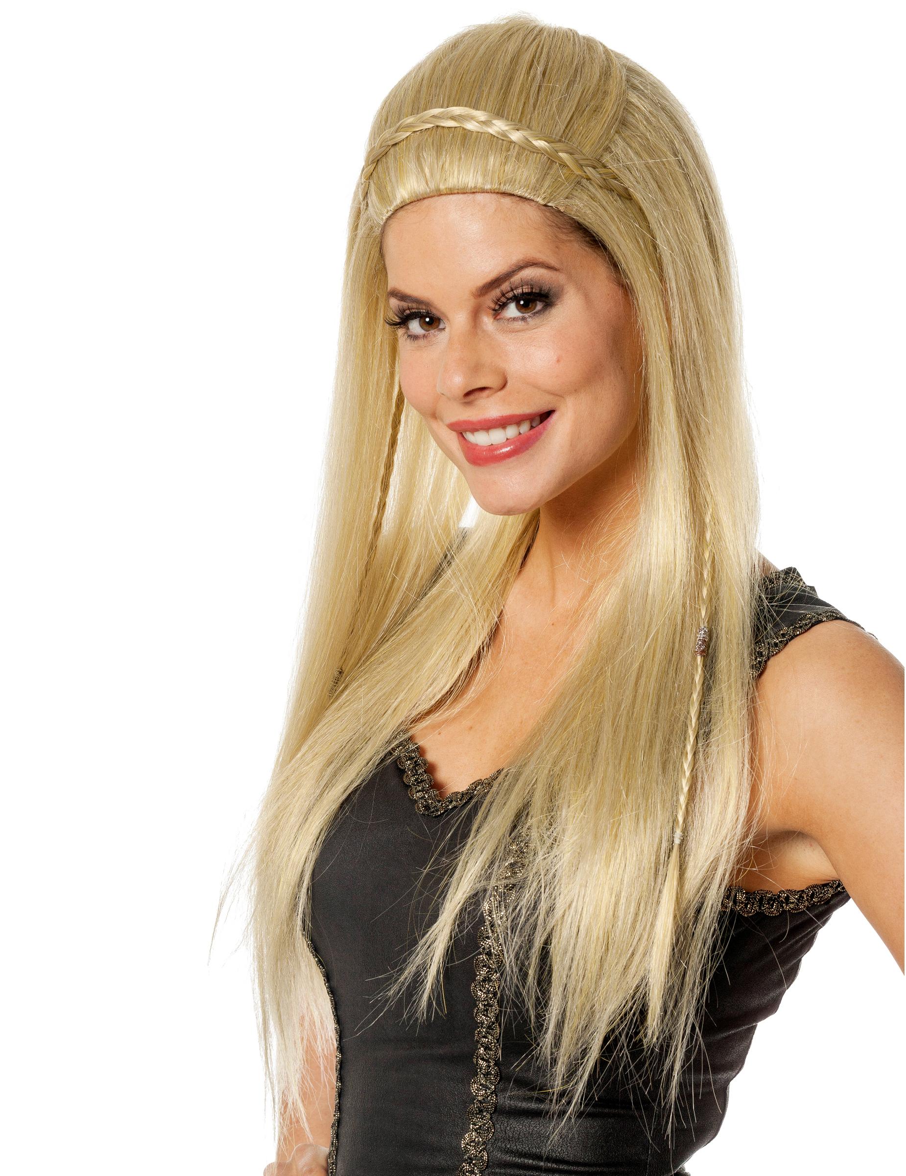 Parrucca bionda capelli lunghi per donna: Parrucche,e ...