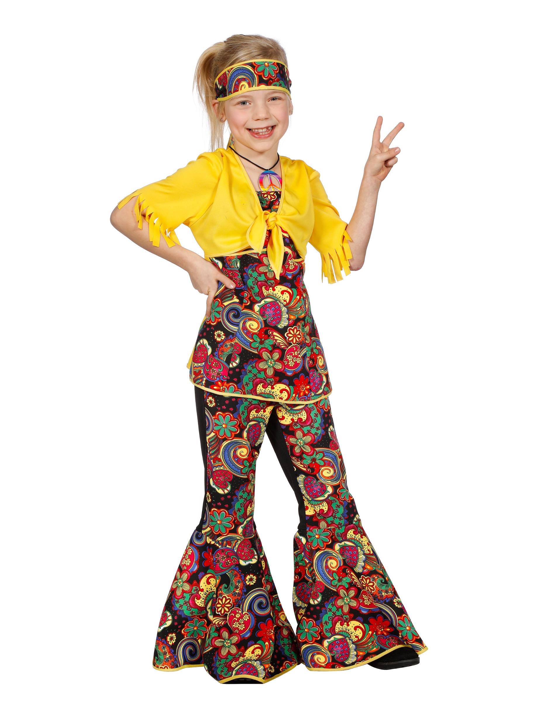 Costume Hippie Bambina  Costumi bambinie vestiti di carnevale online - Vegaoo