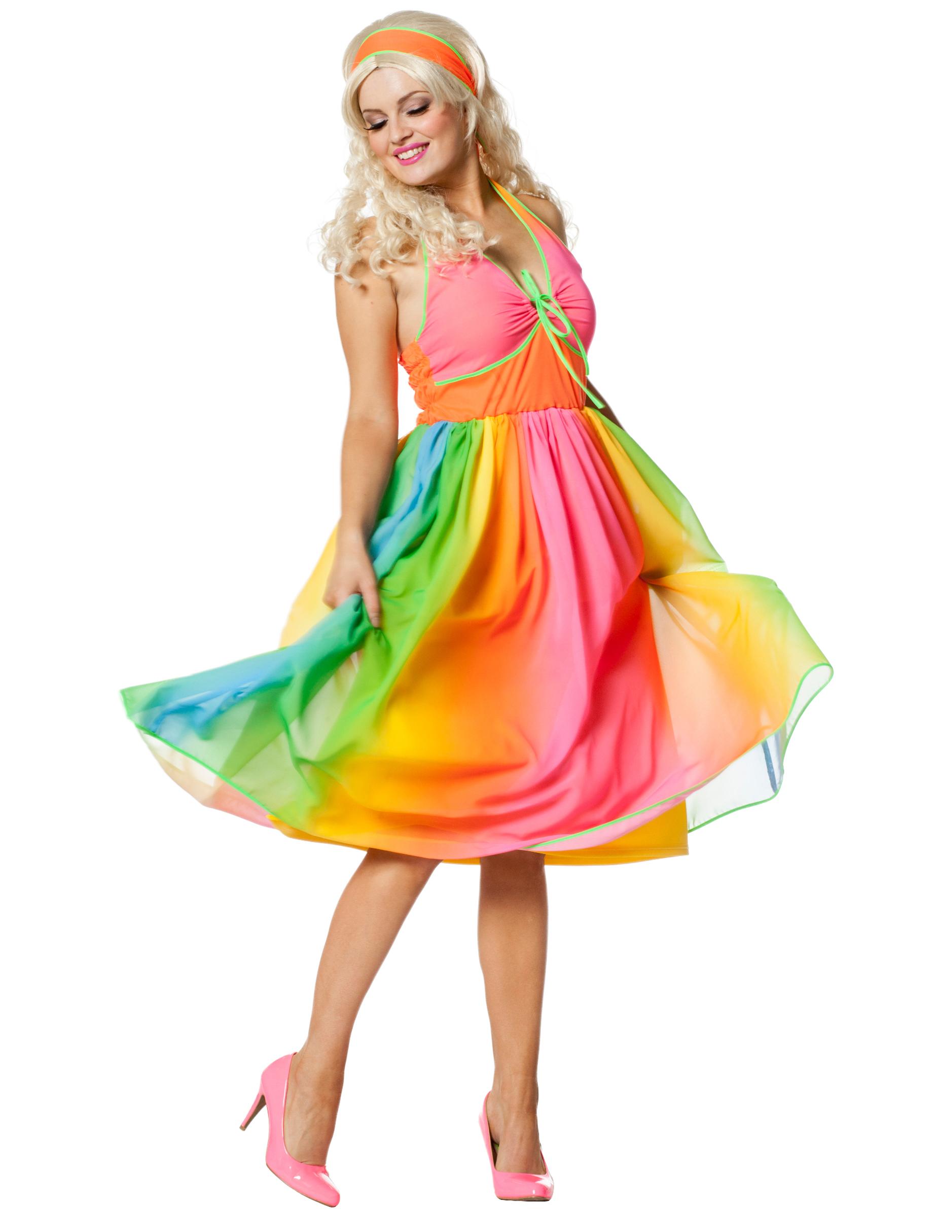 c02859155767d Costume anni 60 arcobaleno per donna  Costumi adulti