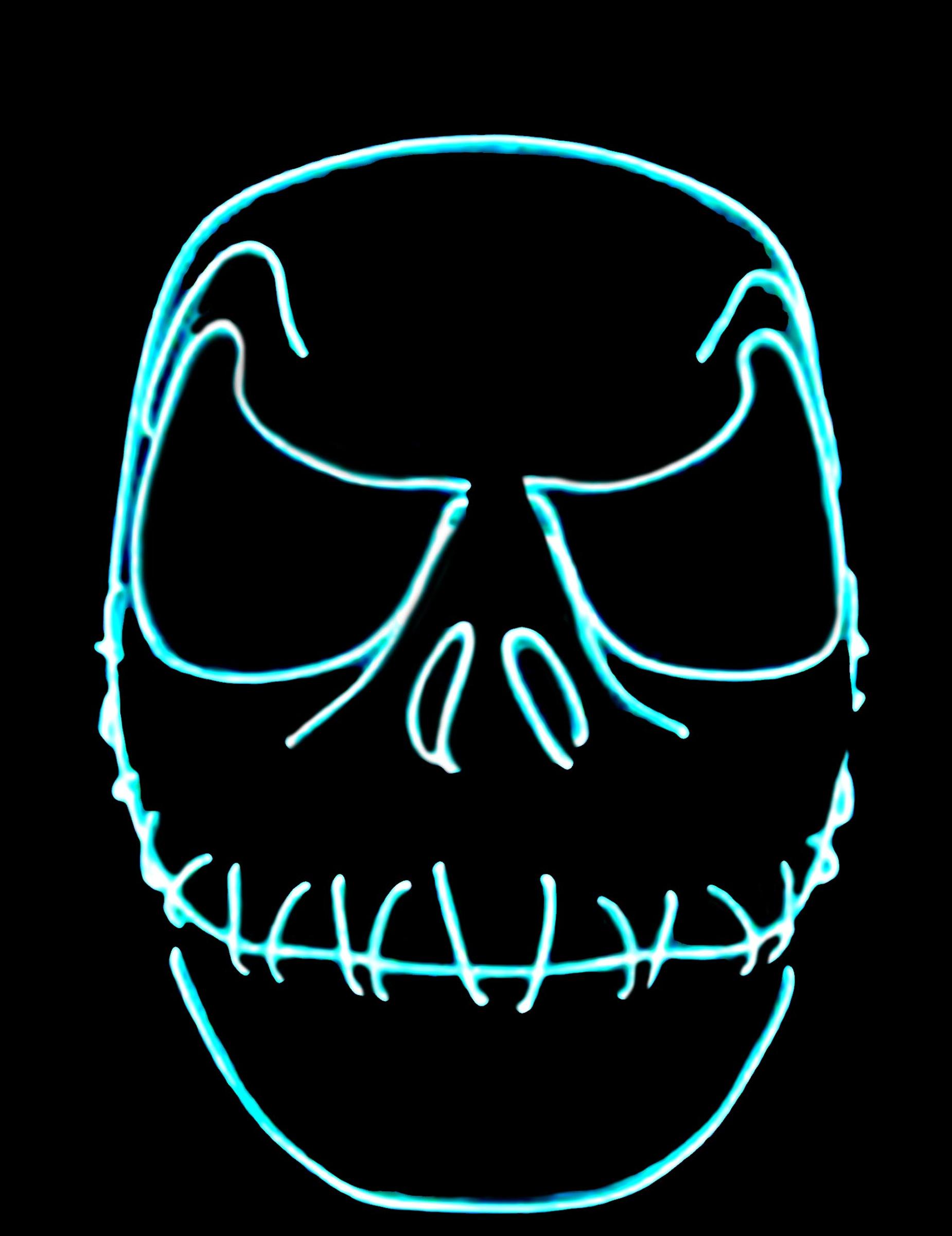 maschera paillettes bocca