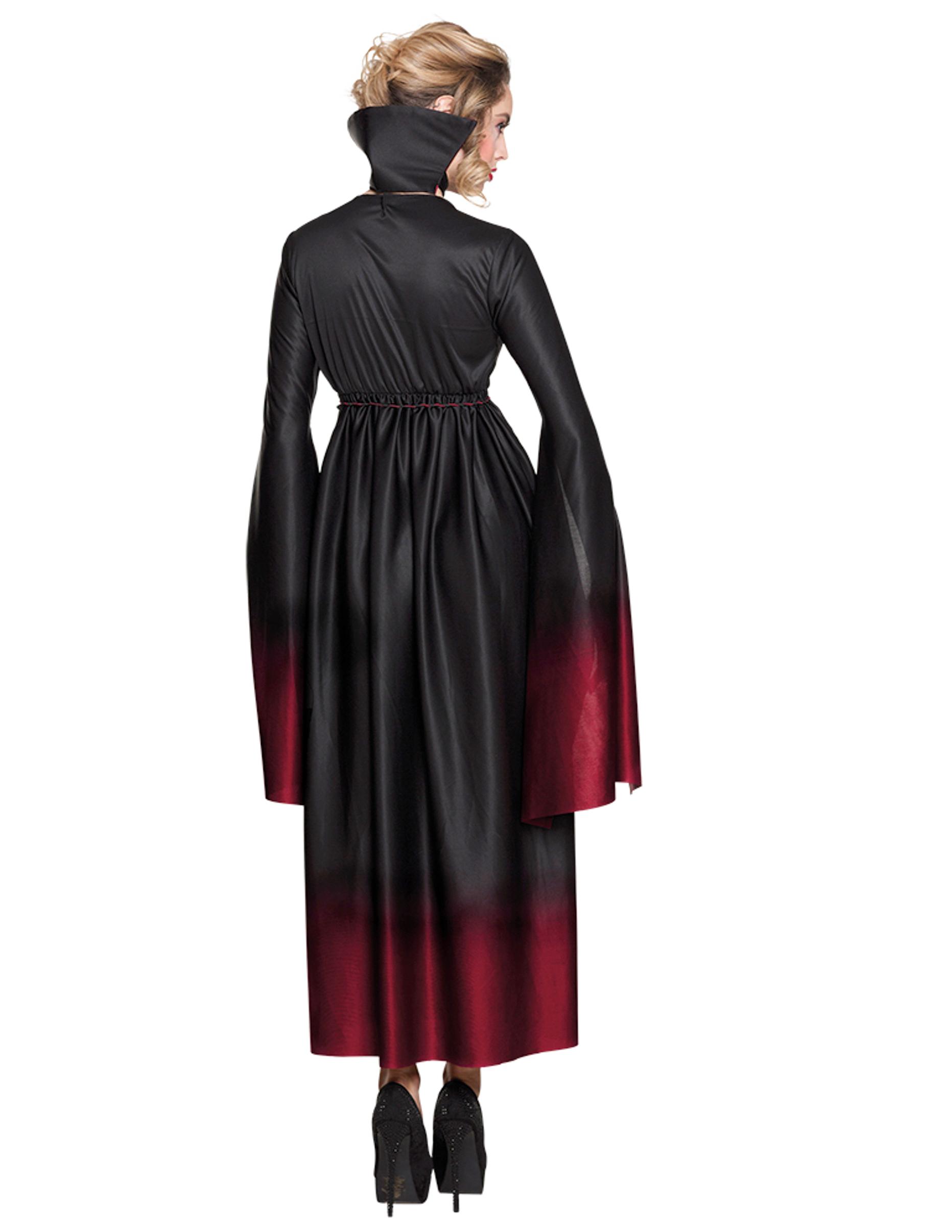 Costume da vampiro nero e rosso sfumato per donna halloween  Costumi ... 7b43b41838c