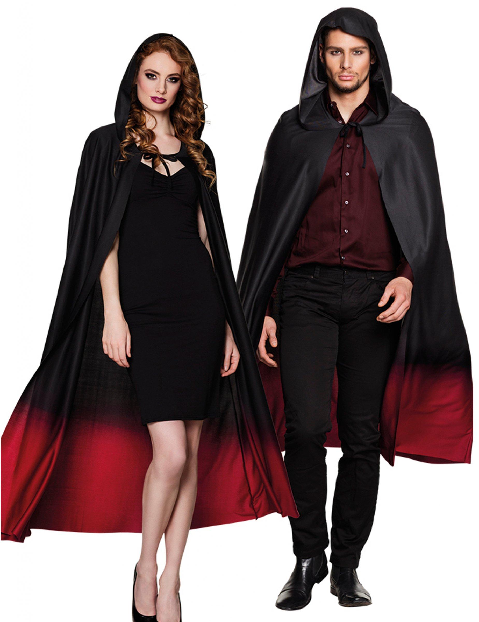 Mantello nero e rosso sfumato adulto halloween  Accessori b1a926e49c1
