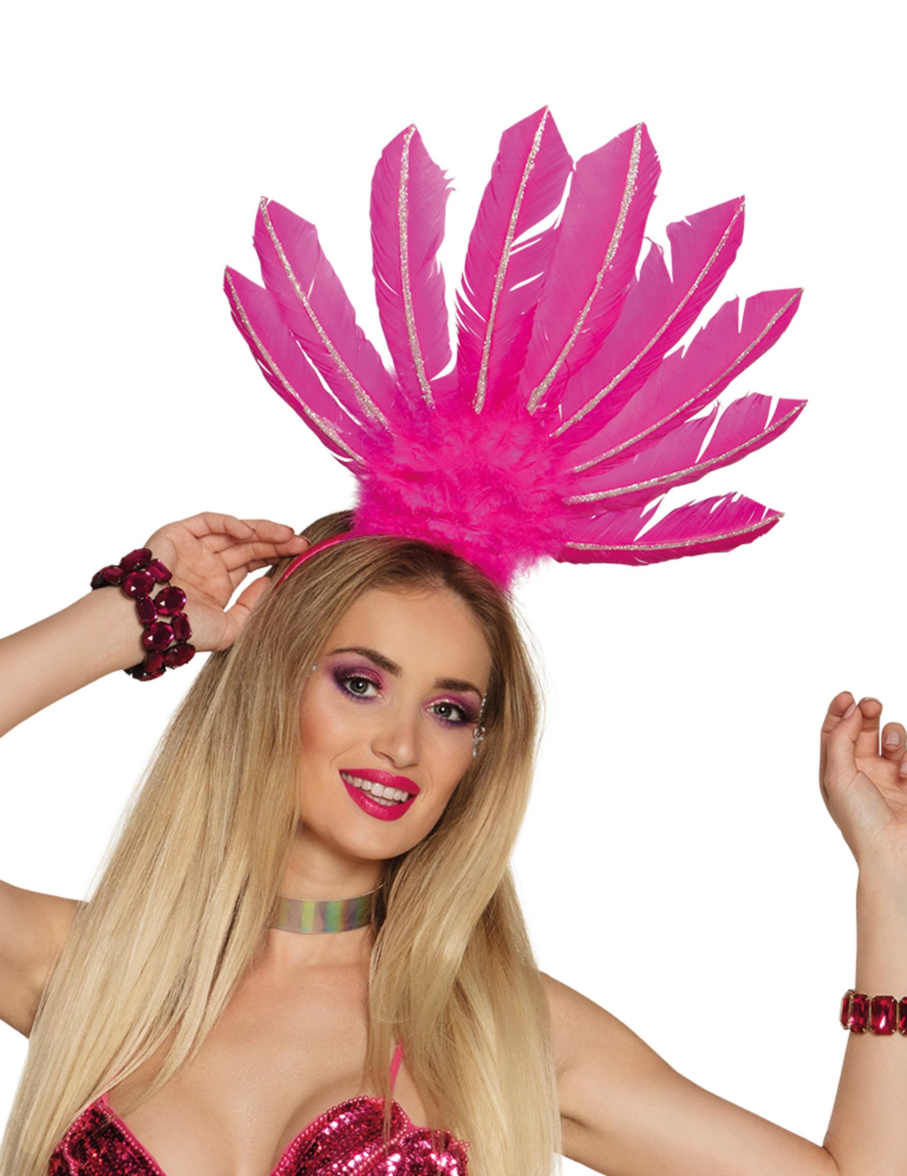 cheap for discount 0ec1d 2ba2a Copricapo brasiliano rosa per donna