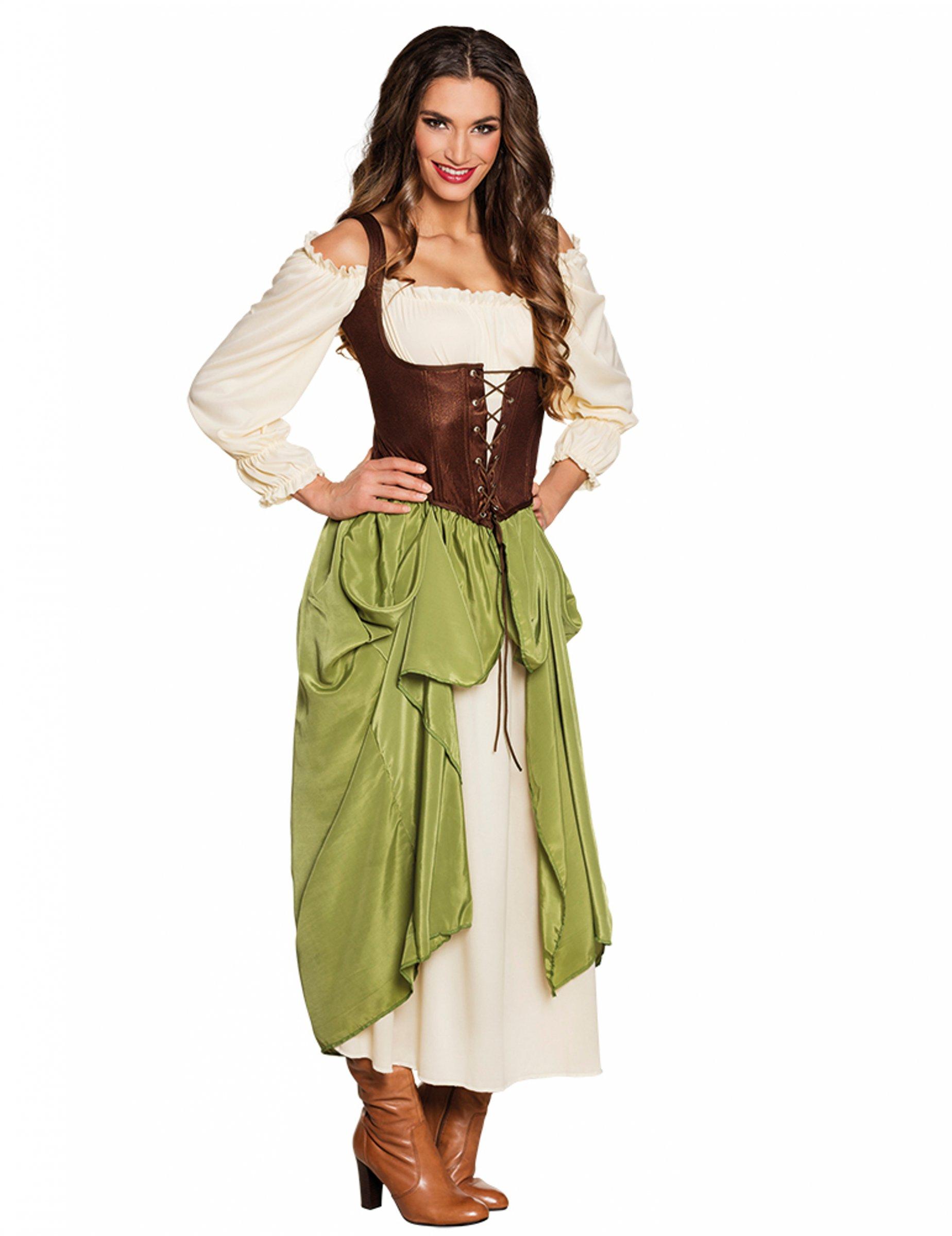 soddisfare nuovo elenco piuttosto fico Costume medievale da locandiera per donna: Costumi adulti,e ...