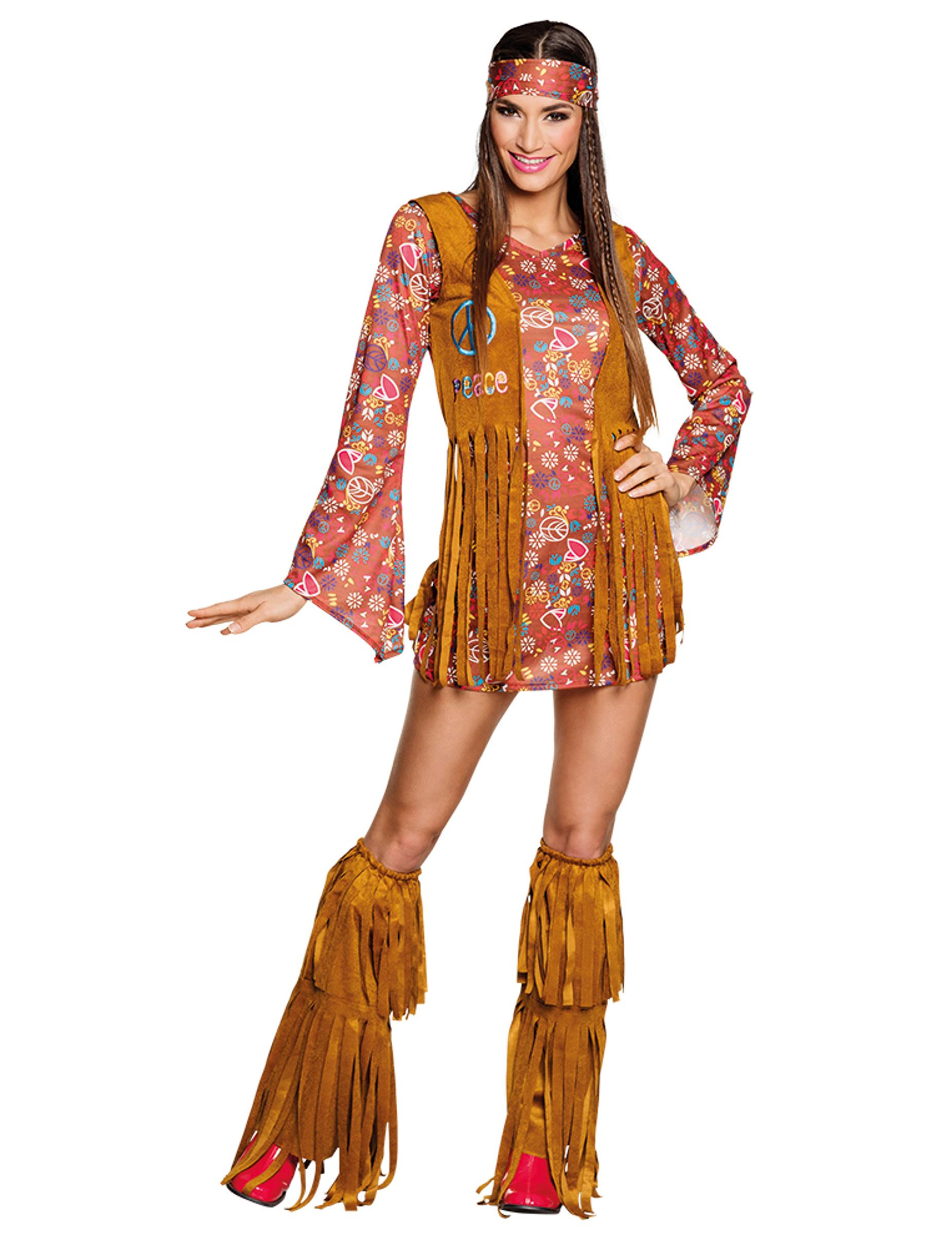costume hippie a frange per donna costumi adulti e vestiti di carnevale online vegaoo. Black Bedroom Furniture Sets. Home Design Ideas