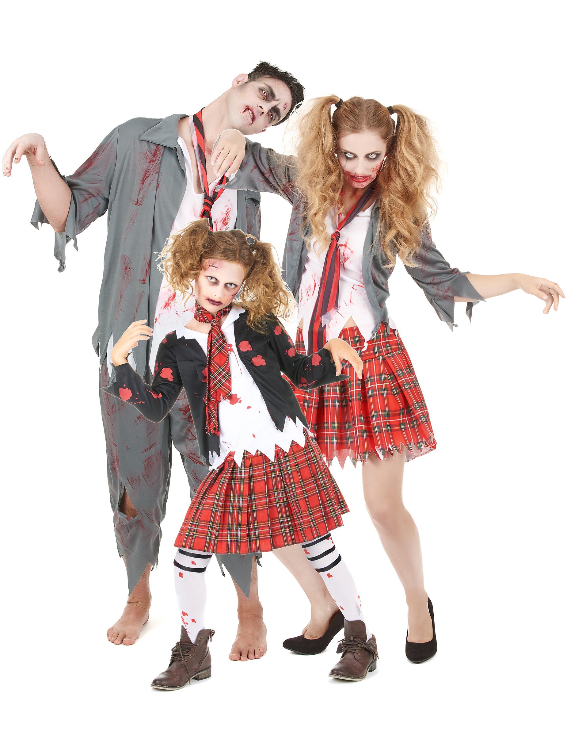 Vestiti Halloween.Costume Da Famiglia Di Zombie Halloween