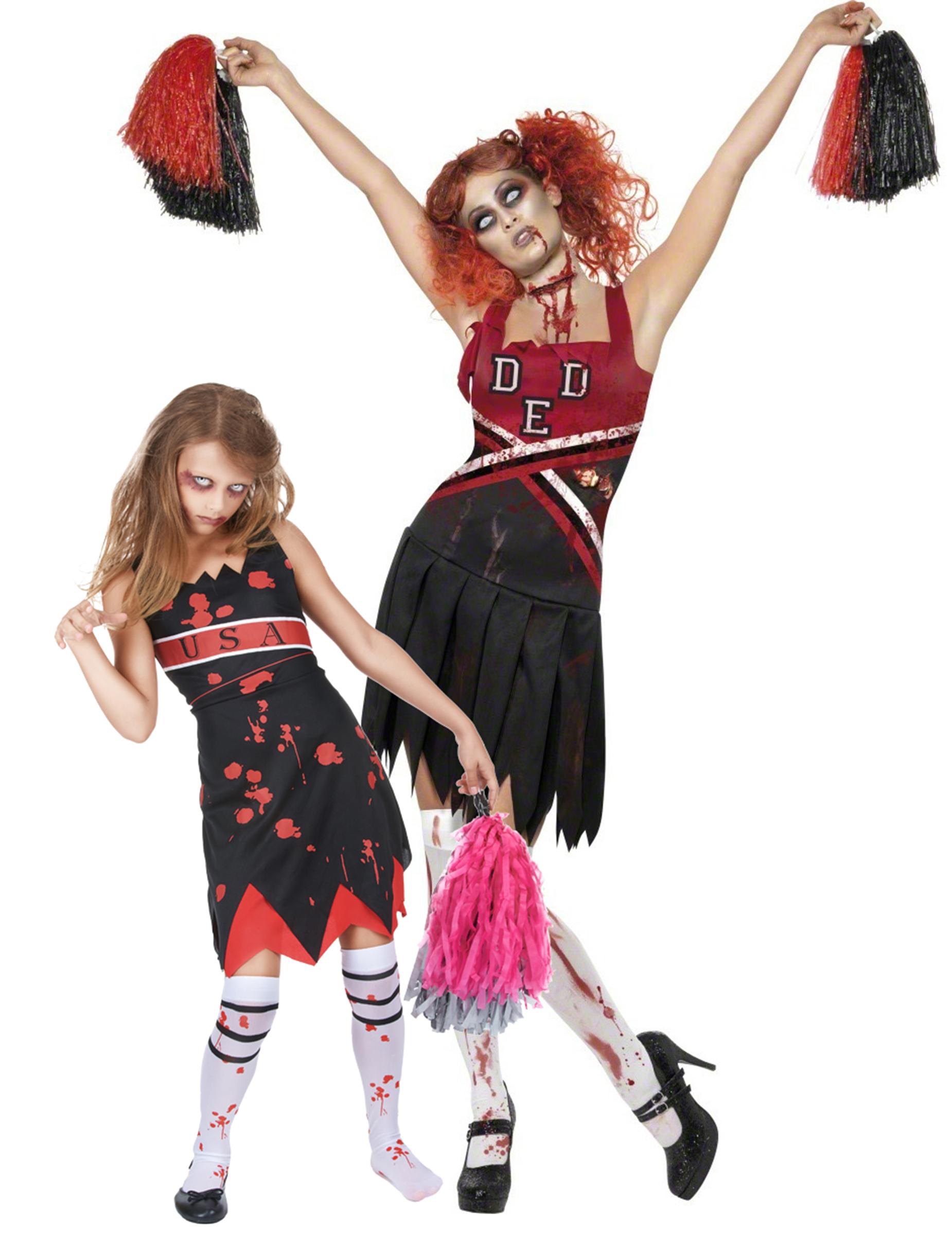 negozio ufficiale chic classico scelta migliore Costume coppia ragazze pompom zombie mamma e figlia halloween
