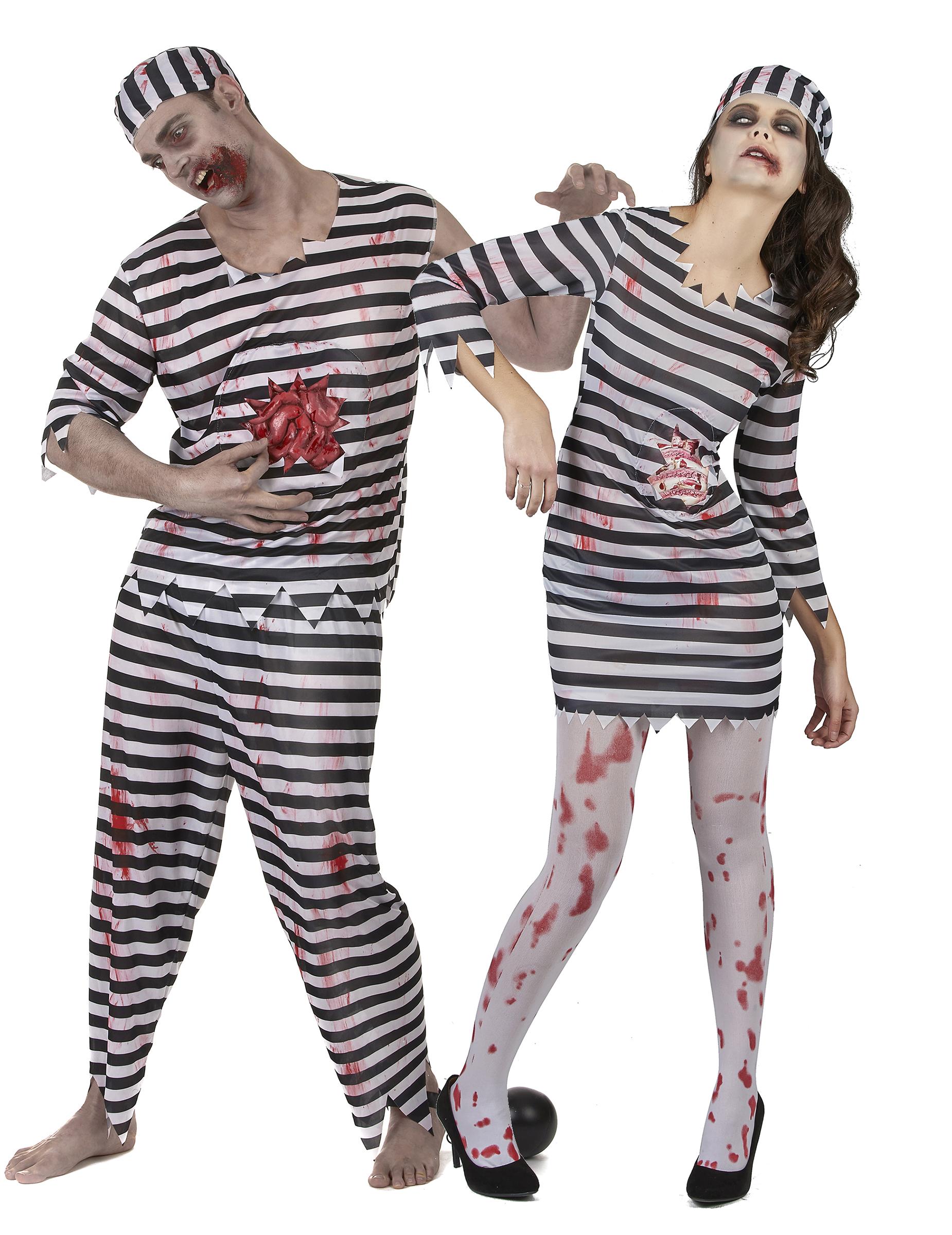 nuovi prodotti per ultimi progetti diversificati prezzo speciale per Vestito per coppia Carcerato Zombie per Halloween