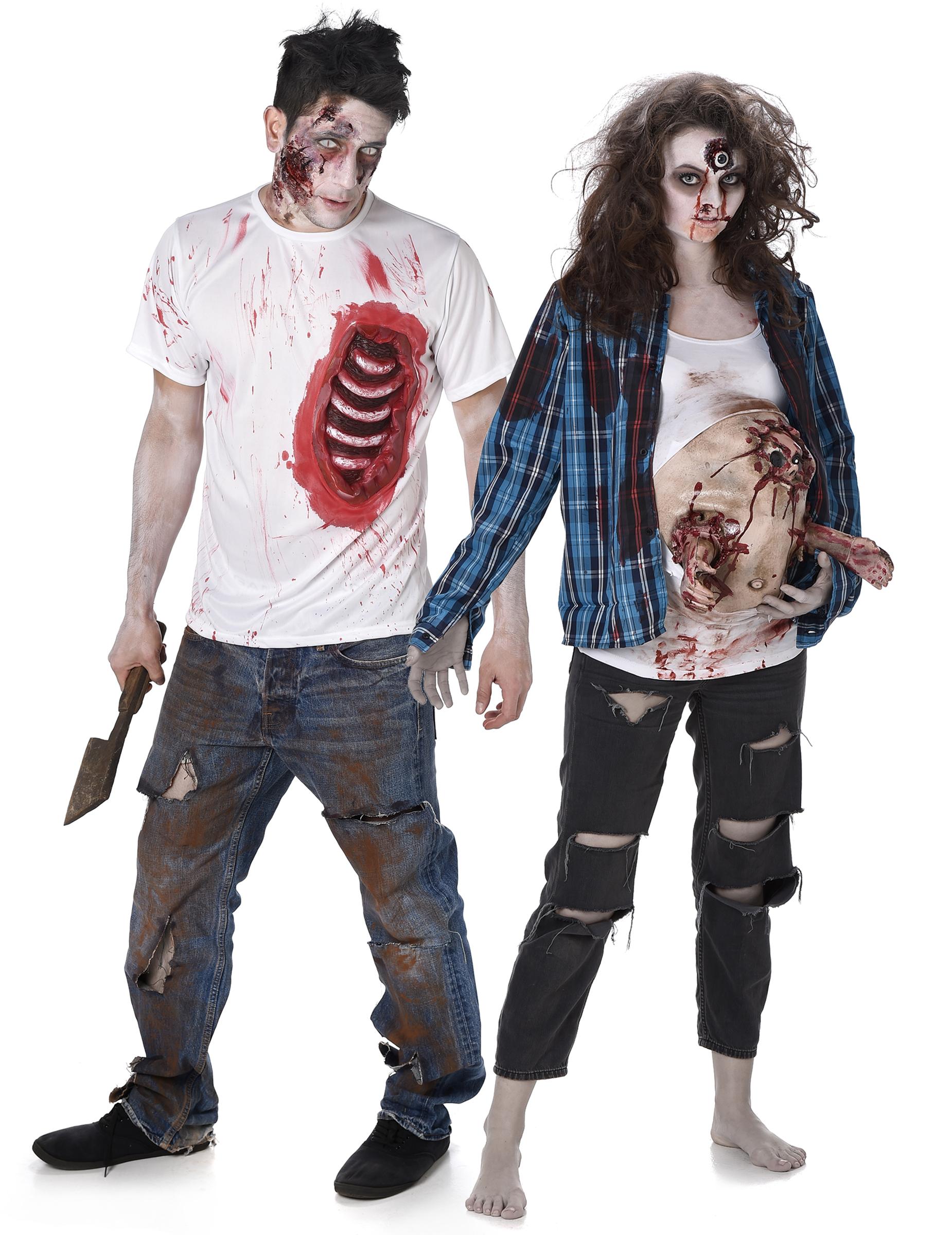 71f44695674082 Vestito Zombie Halloween per coppia: Costumi coppia,e vestiti di ...