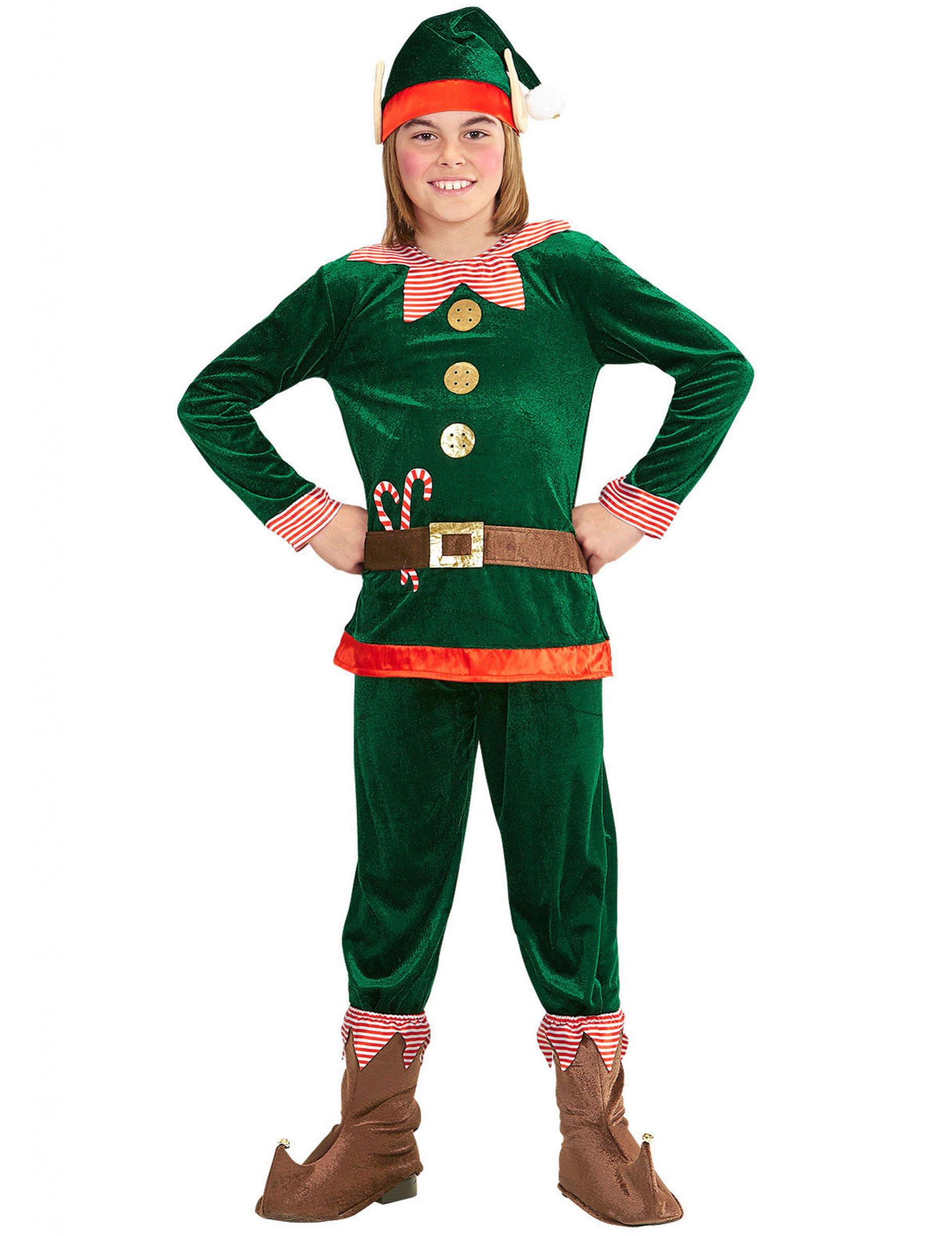 Costume da folletto del Natale per bambino  Costumi bambini 99780fabb63f