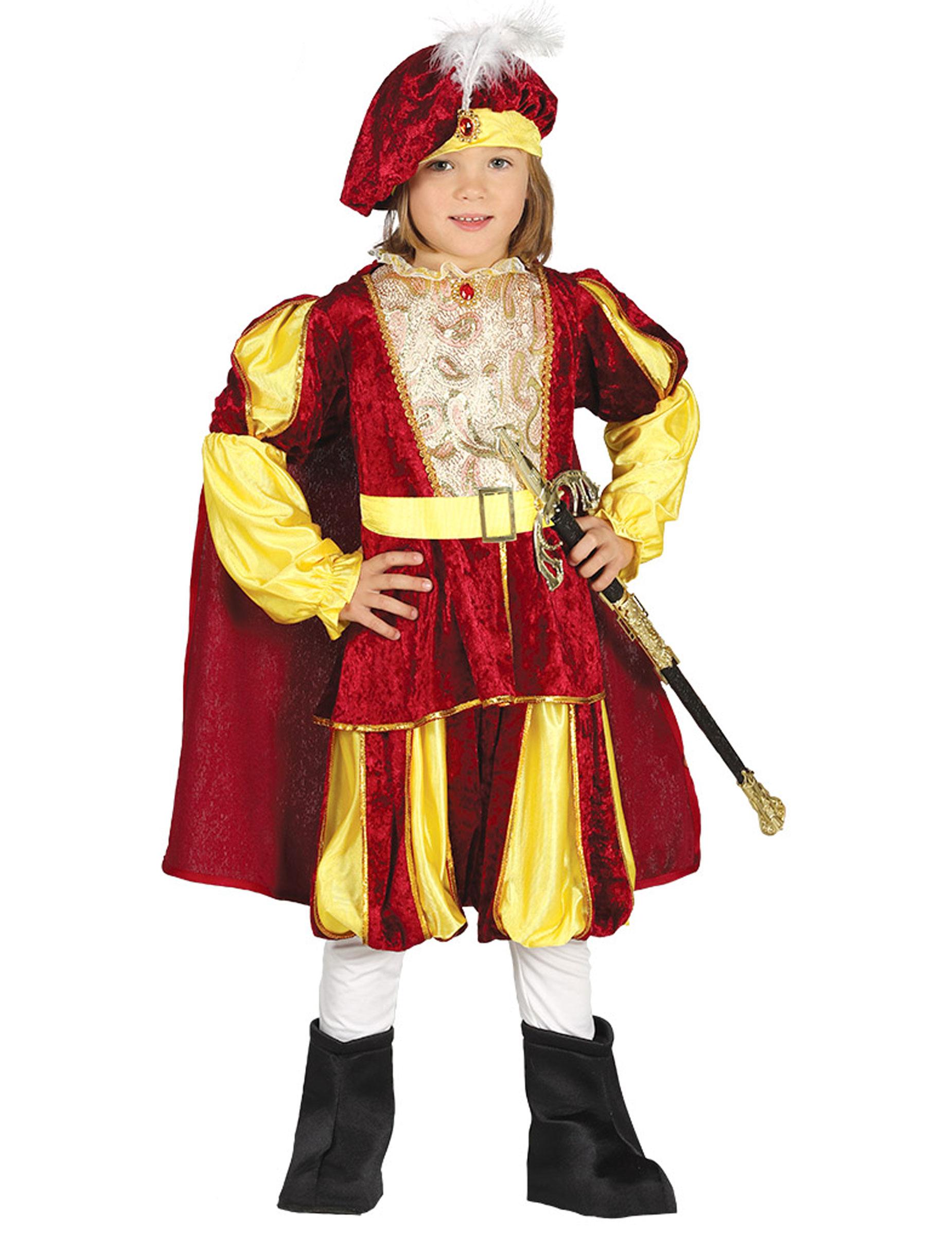 Costume da re rosso e giallo per bambino  Costumi bambini cb87e1c1cac