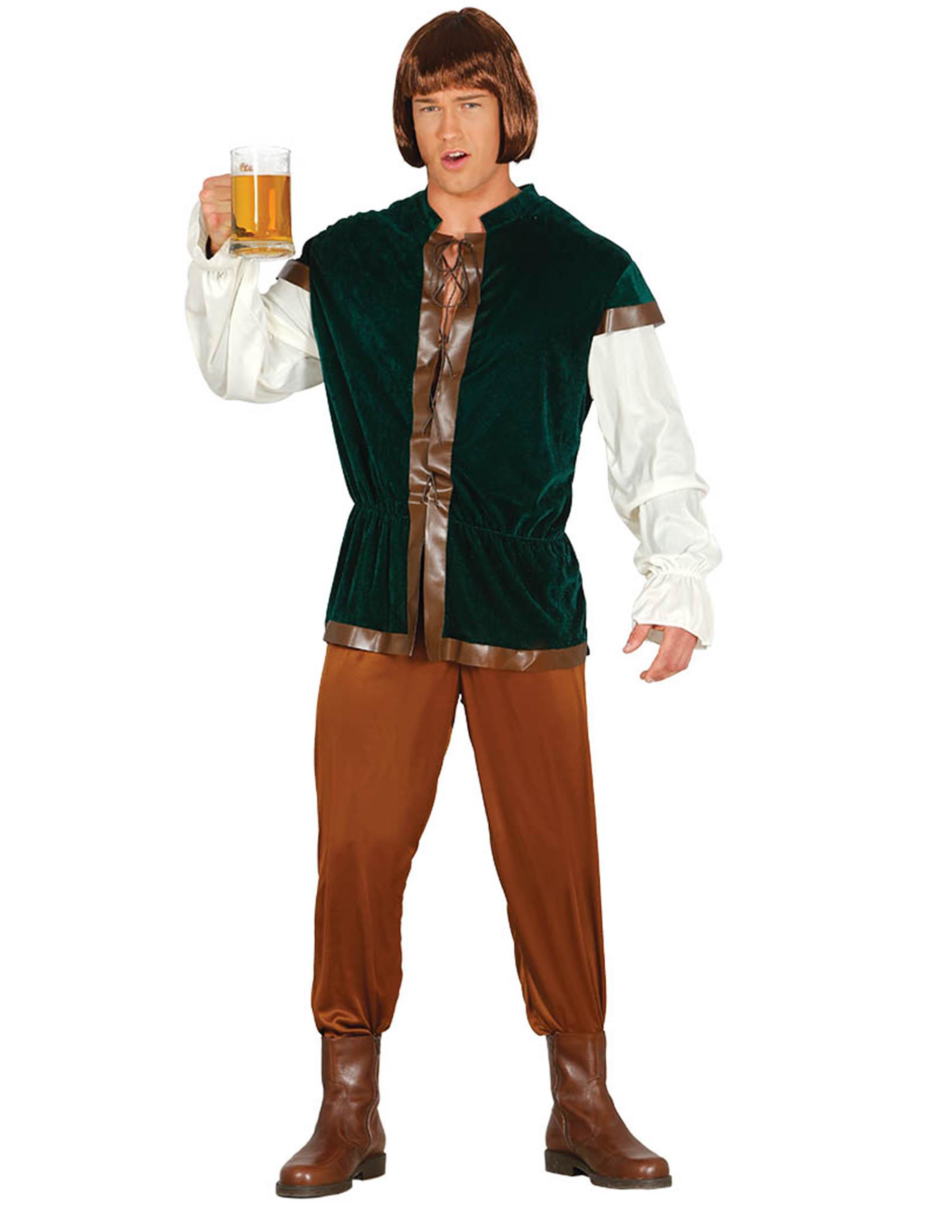 Vestito Matrimonio Uomo Verde : Vestito da oste medievale verde per uomo costumi adulti e