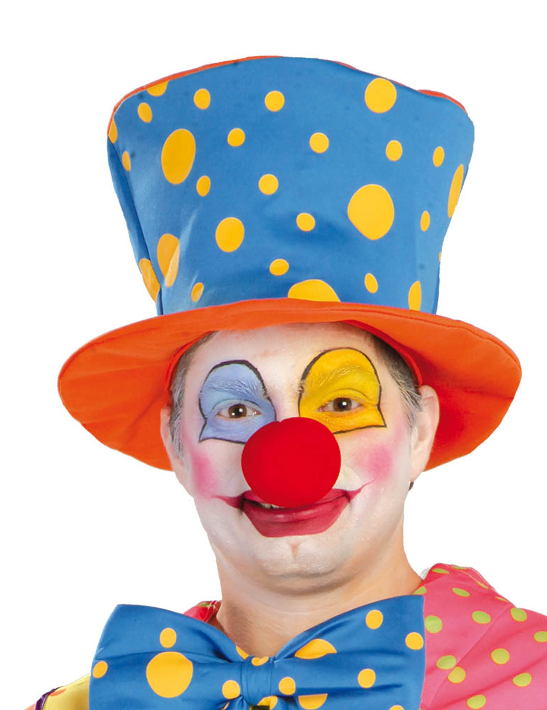 Vestiti Cappello Da Clown A Per AdultoCappelli Cilindro Pois e c34jL5ARq