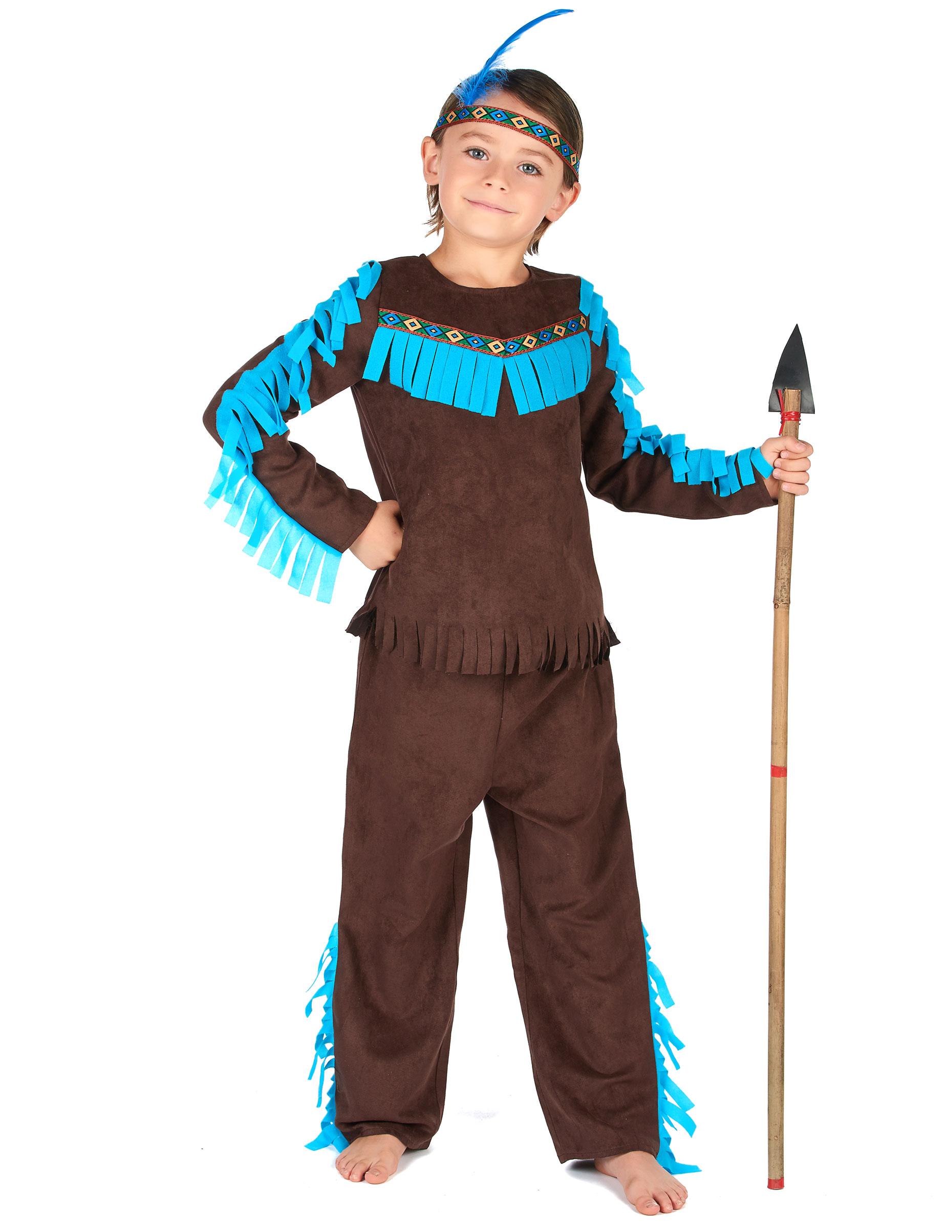 qualità disabilità strutturali nuovo stile di vita Costume da indiano marrone per bambino