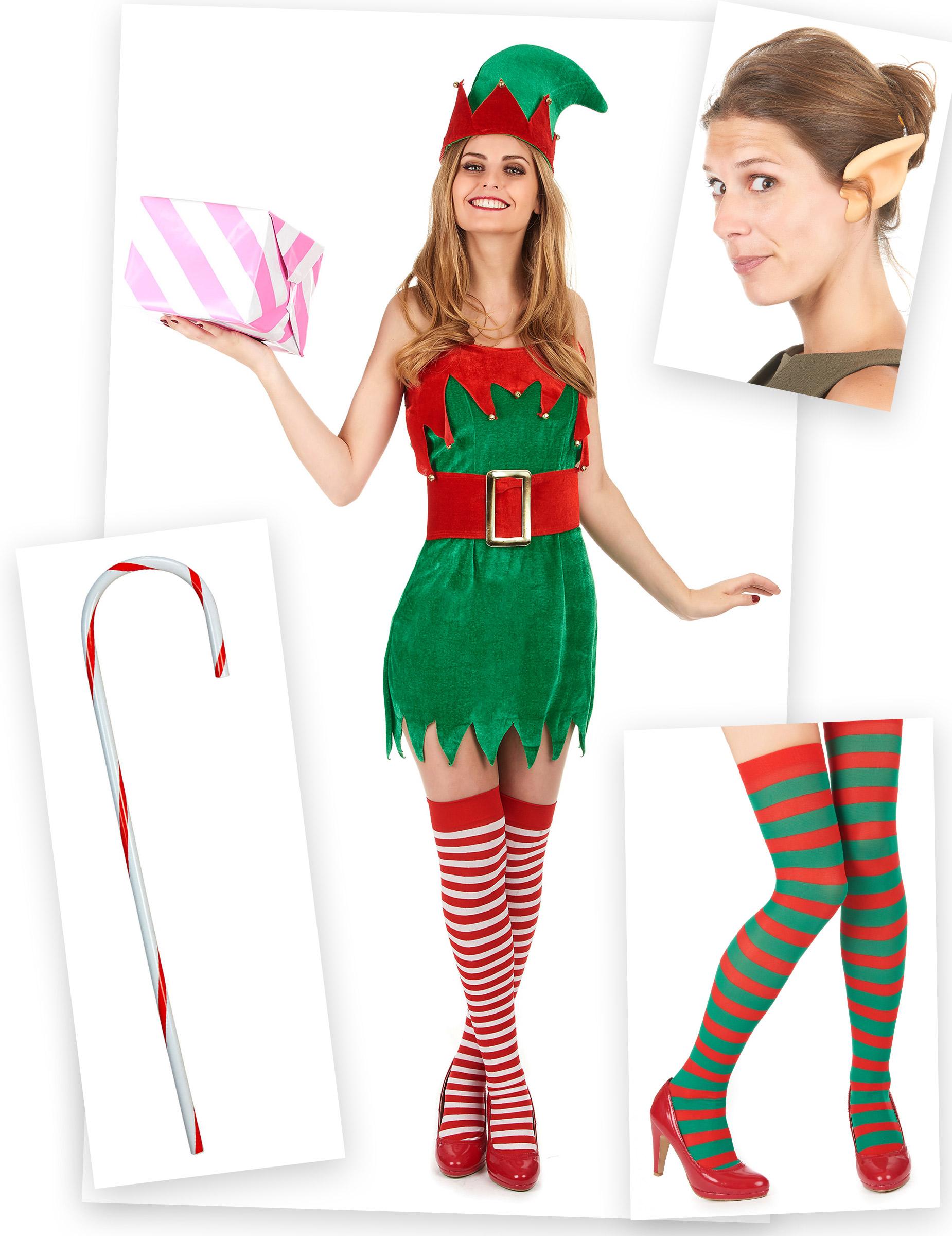 Set costume da elfo per donna  Costumi adulti fd1a090f16b