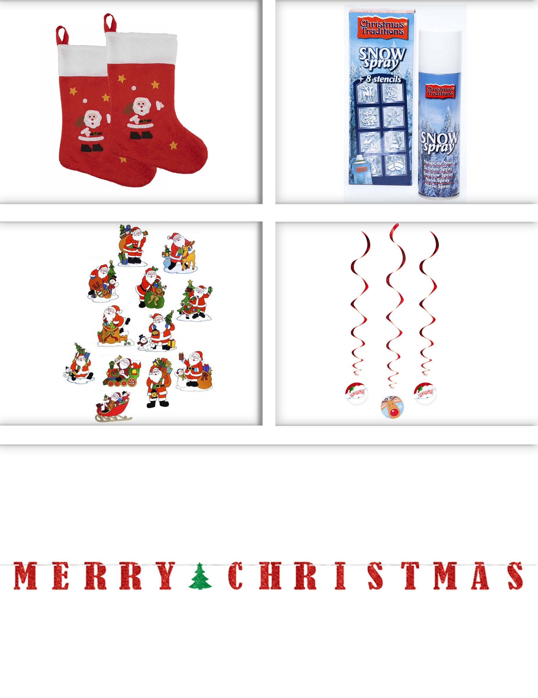 Set decorazioni natalizie per casa addobbi e vestiti di for Decorazioni casa online