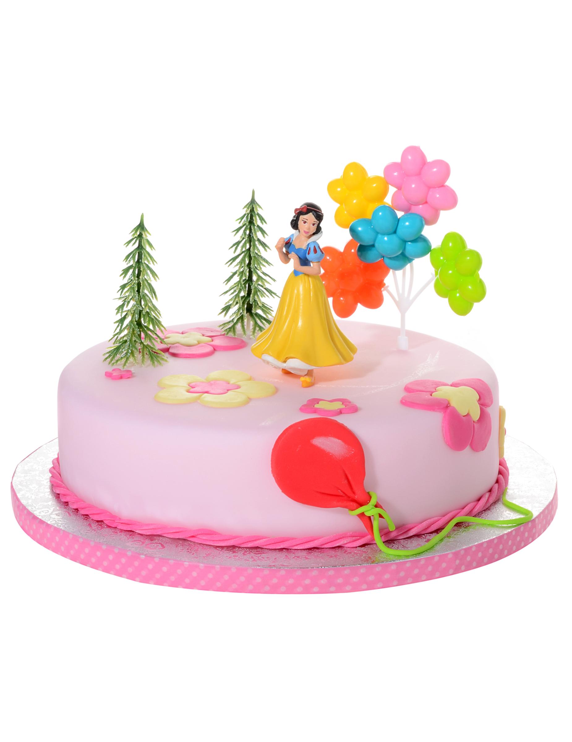 Decorazioni Per Torta Principesse Disney Biancaneve Kit 4