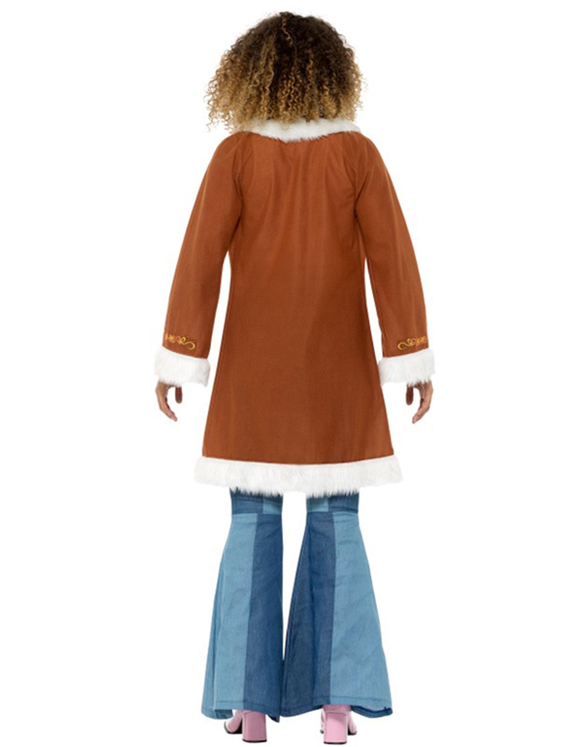 Con Per Donna e Adulti Di Cappotto Vestiti Pelliccia Hippie Costumi 5tSxqax
