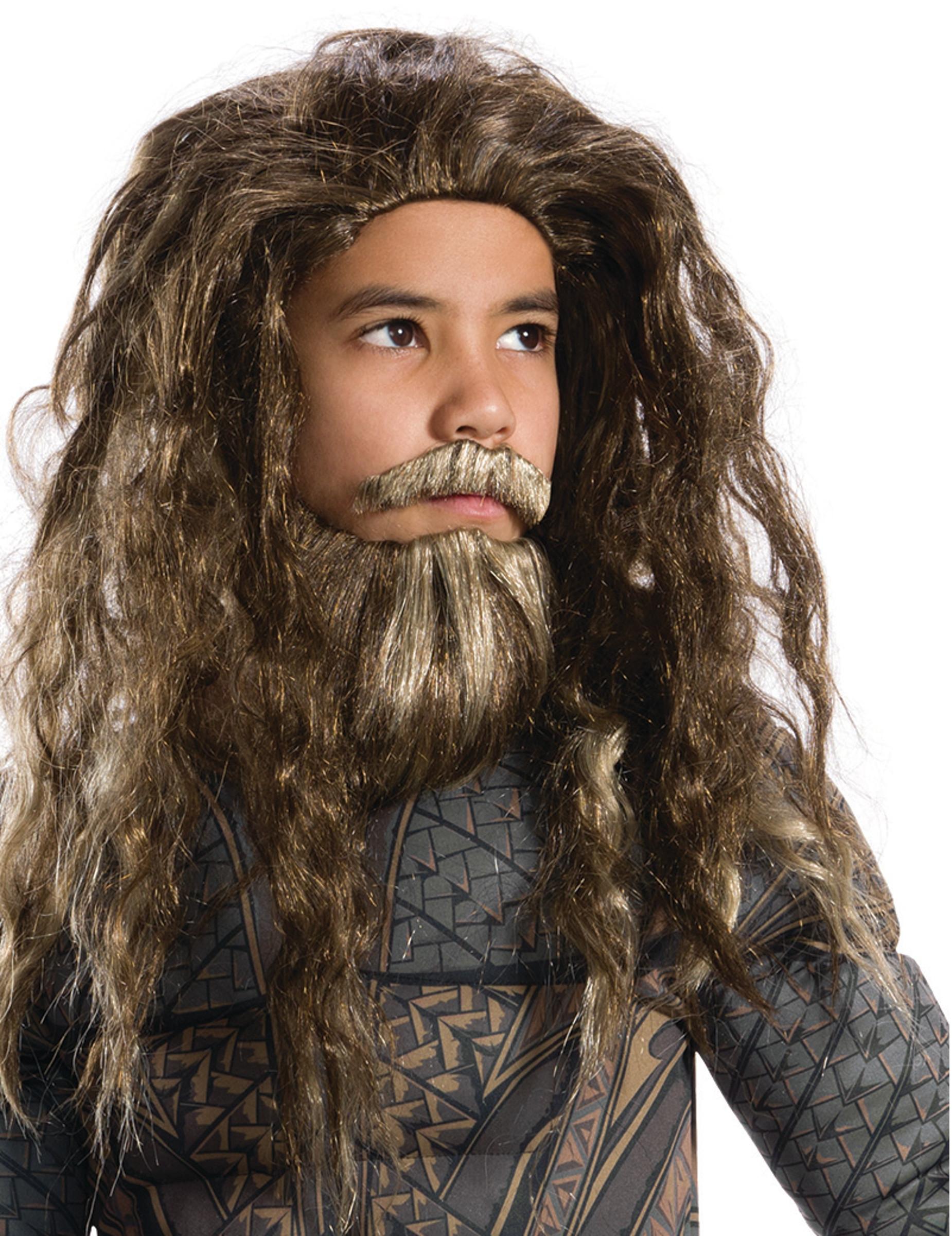 Parrucca e barba da Aquaman™ per bambino  Parrucche e vestiti di carnevale  online Vegaoo bf42f9d61f39