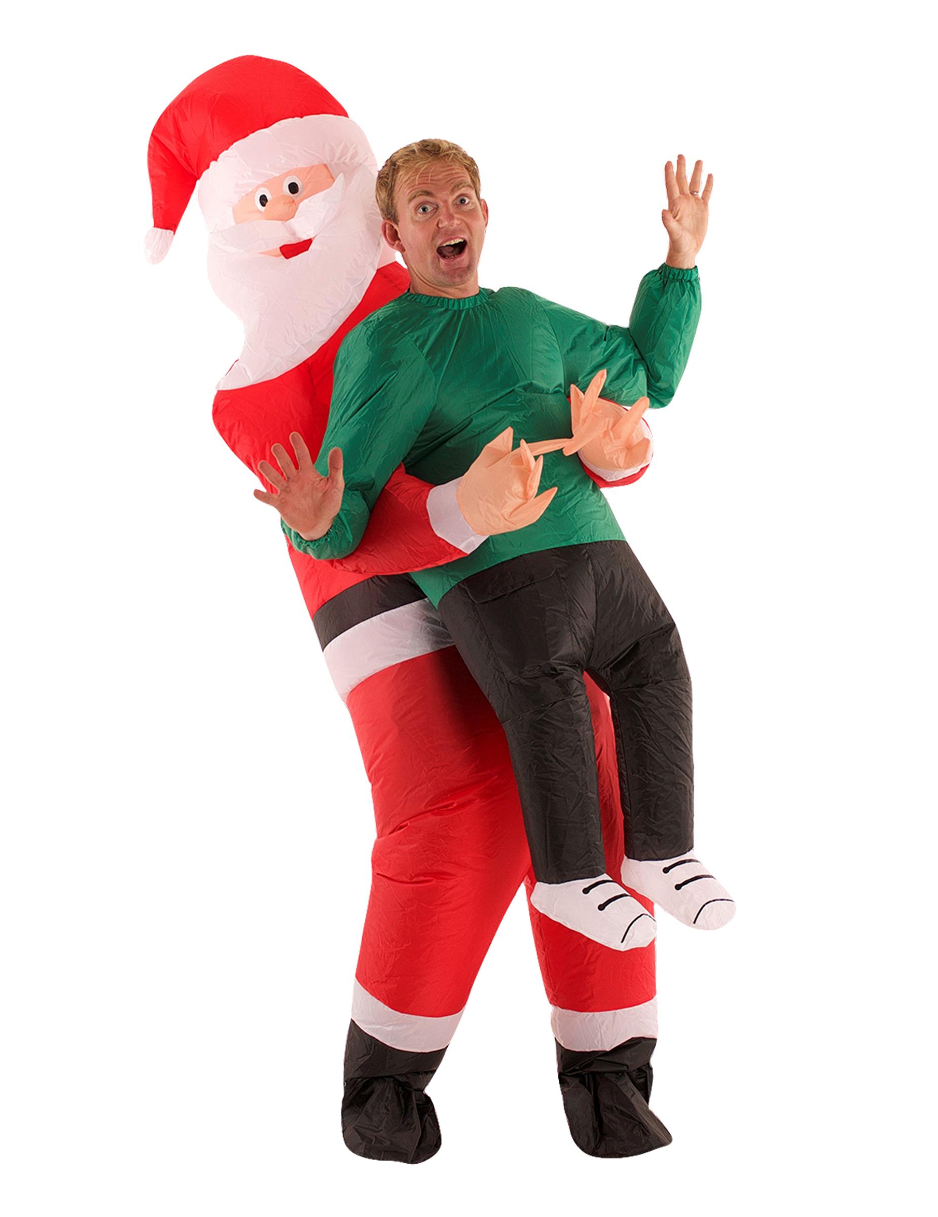 Vestito Babbo Natale Taglia 60.Costume Uomo Portato Da Babbo Natale Per Adulto Morphsuits