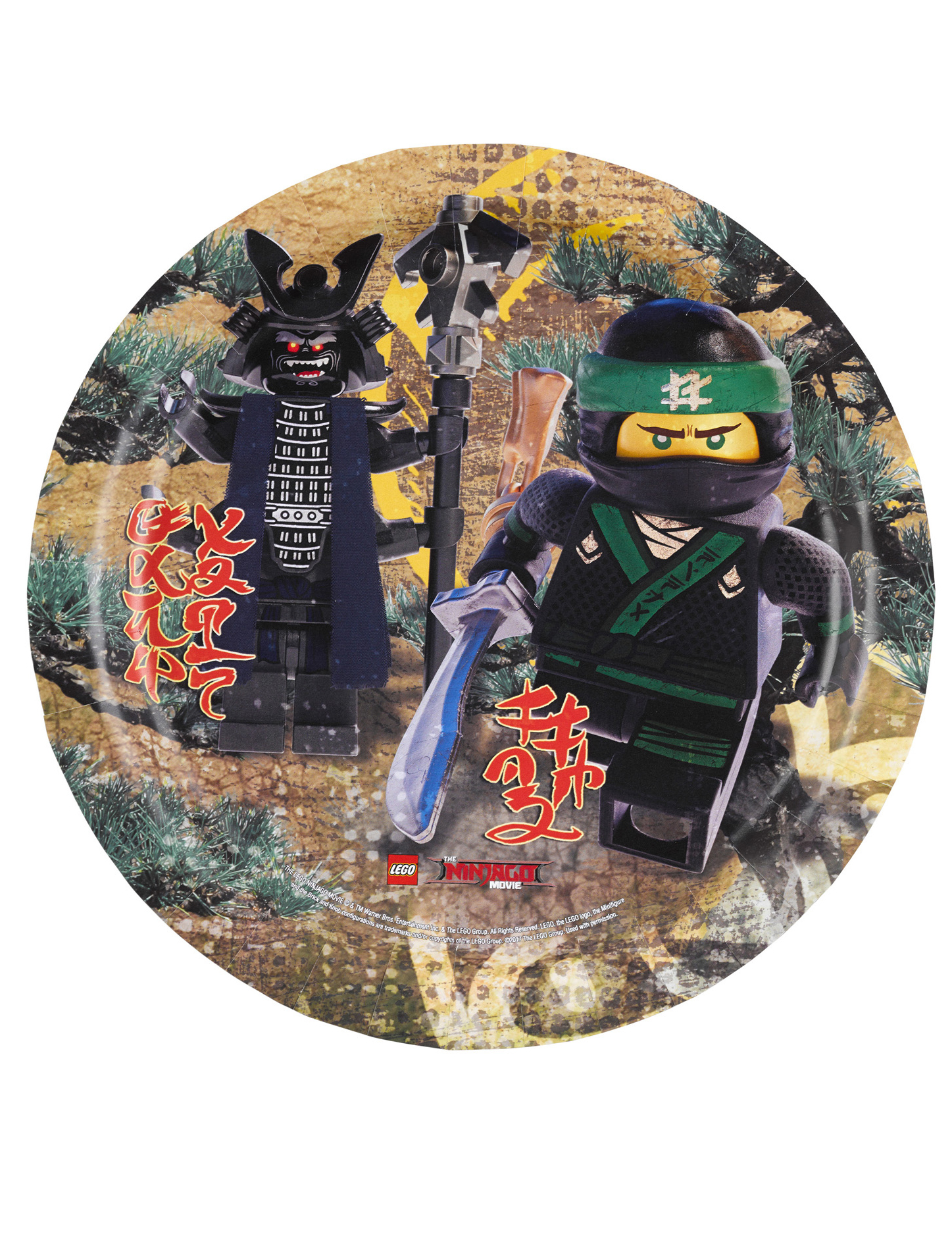 Piatti in cartone lego ninjago™ cm addobbi e