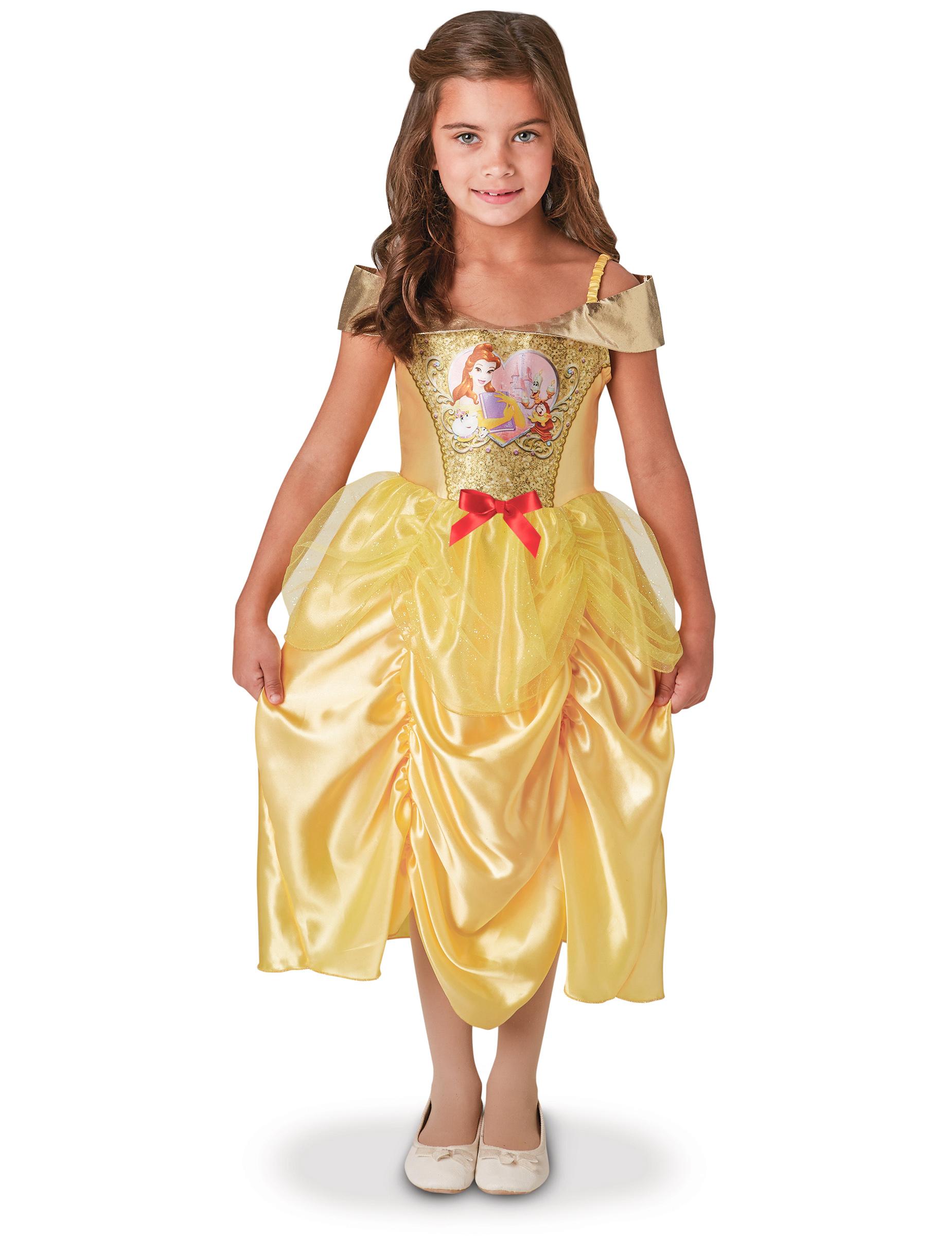 belle costume bambina  Costume Belle™ La bella e la bestia™ per bambina: Costumi bambini,e ...