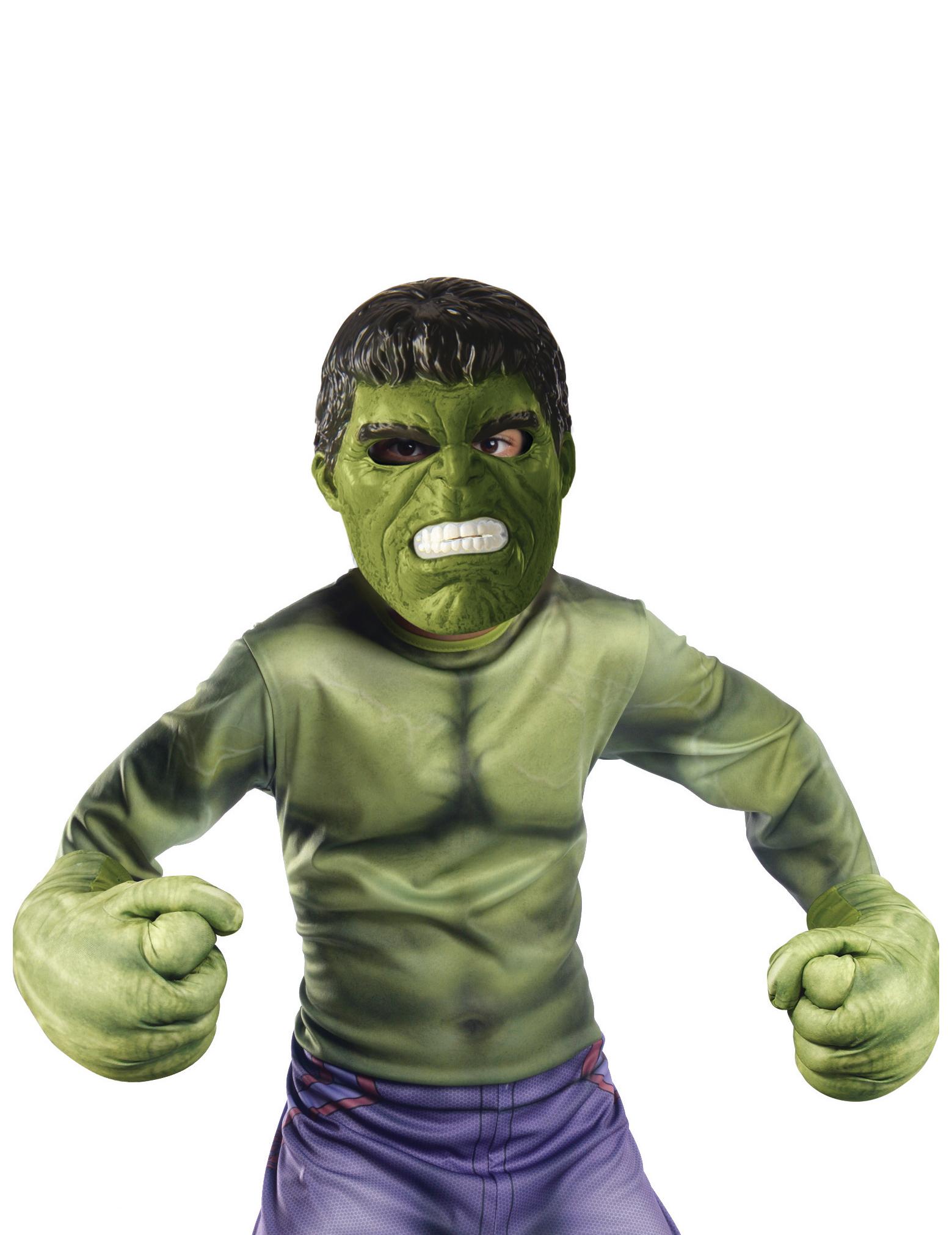 Kit maschera e guanti hulk™ bambino accessori e vestiti di