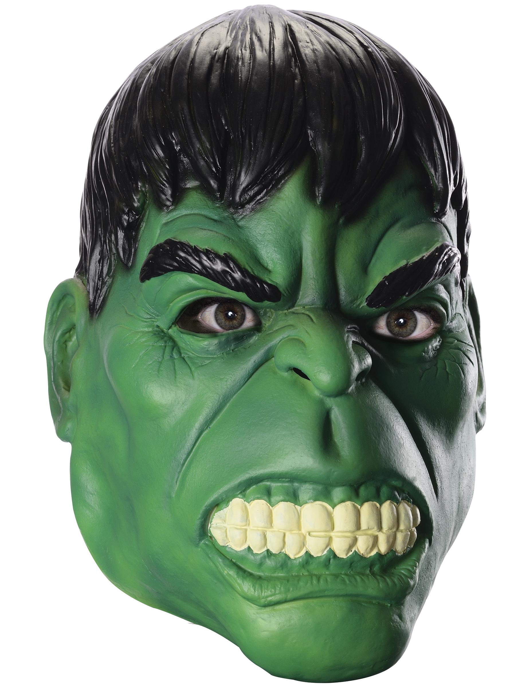 Maschera in lattice di hulk™ per adulto maschere e vestiti di