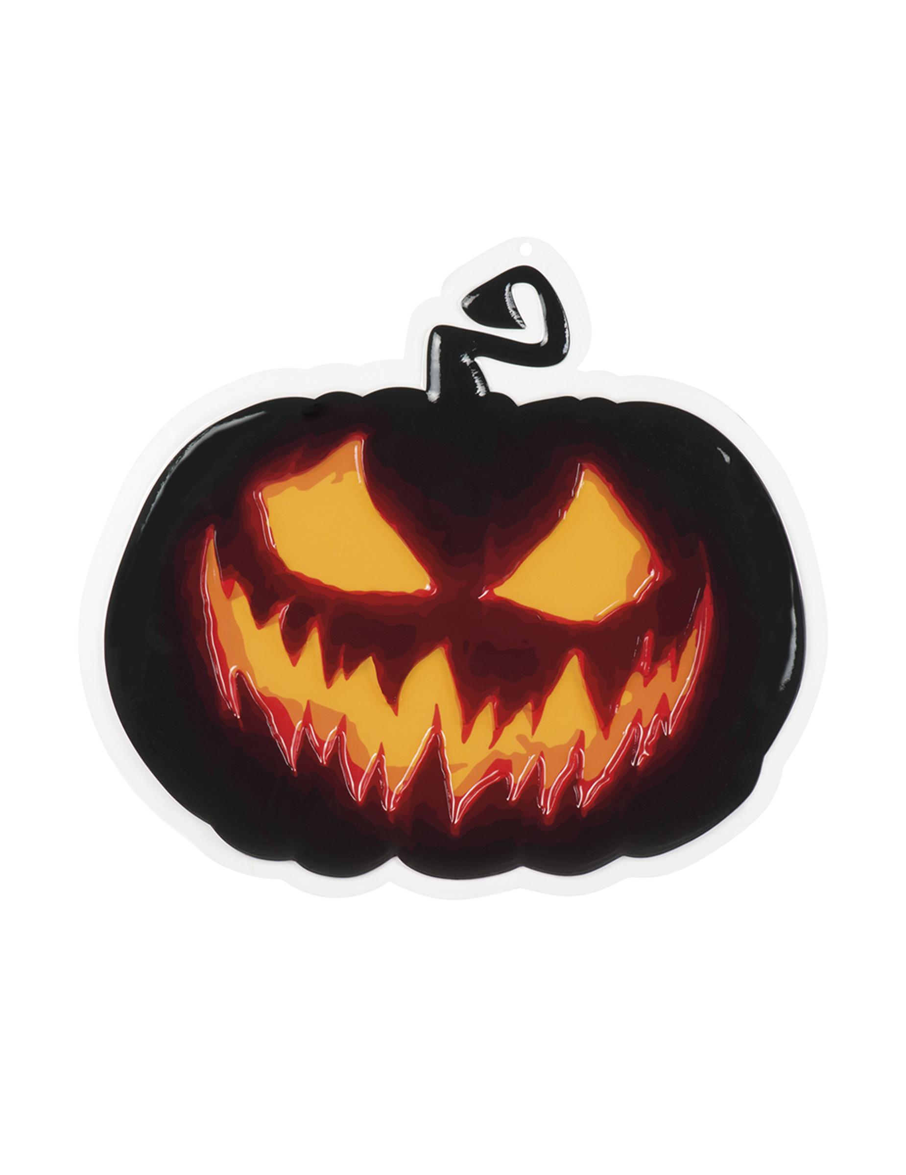 Zucche Di Halloween Terrificanti.Decorazione Da Muro Zucca Terrificante 45 Cm