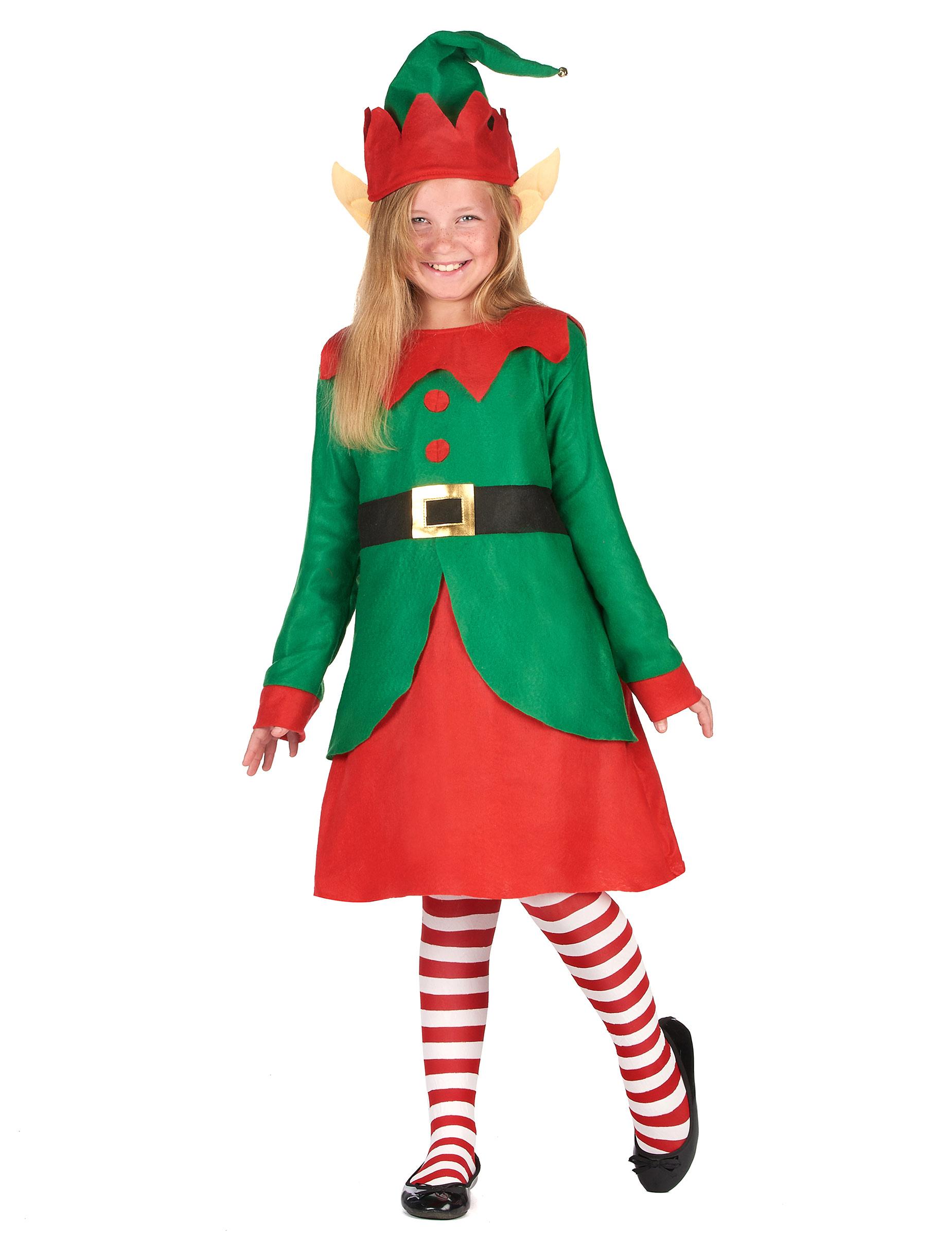 Costume da folletto di Natale per bambina  Costumi bambini 733299e439fd