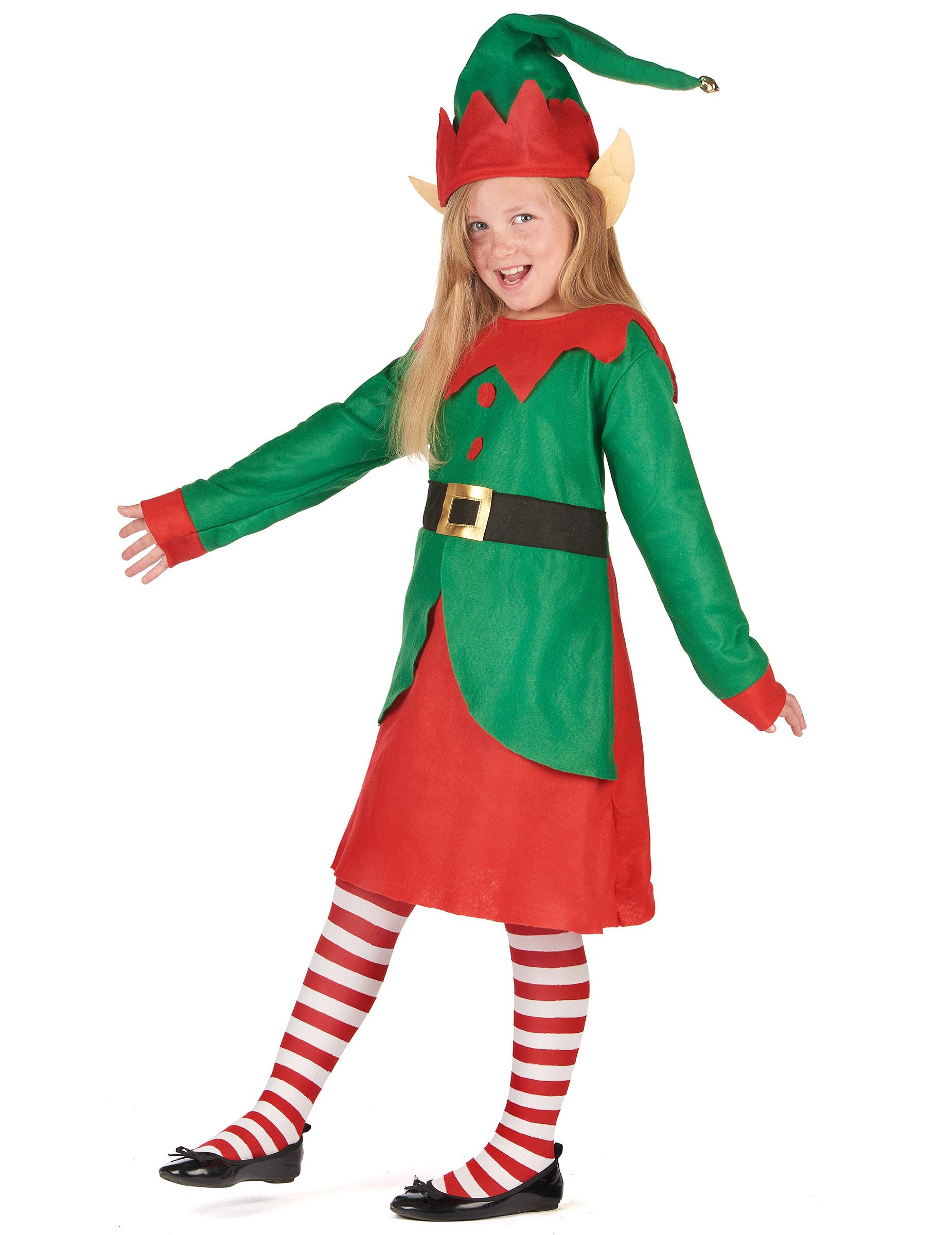 f958ca2b6e83 Costume da folletto di Natale per bambina: Costumi bambini,e vestiti ...