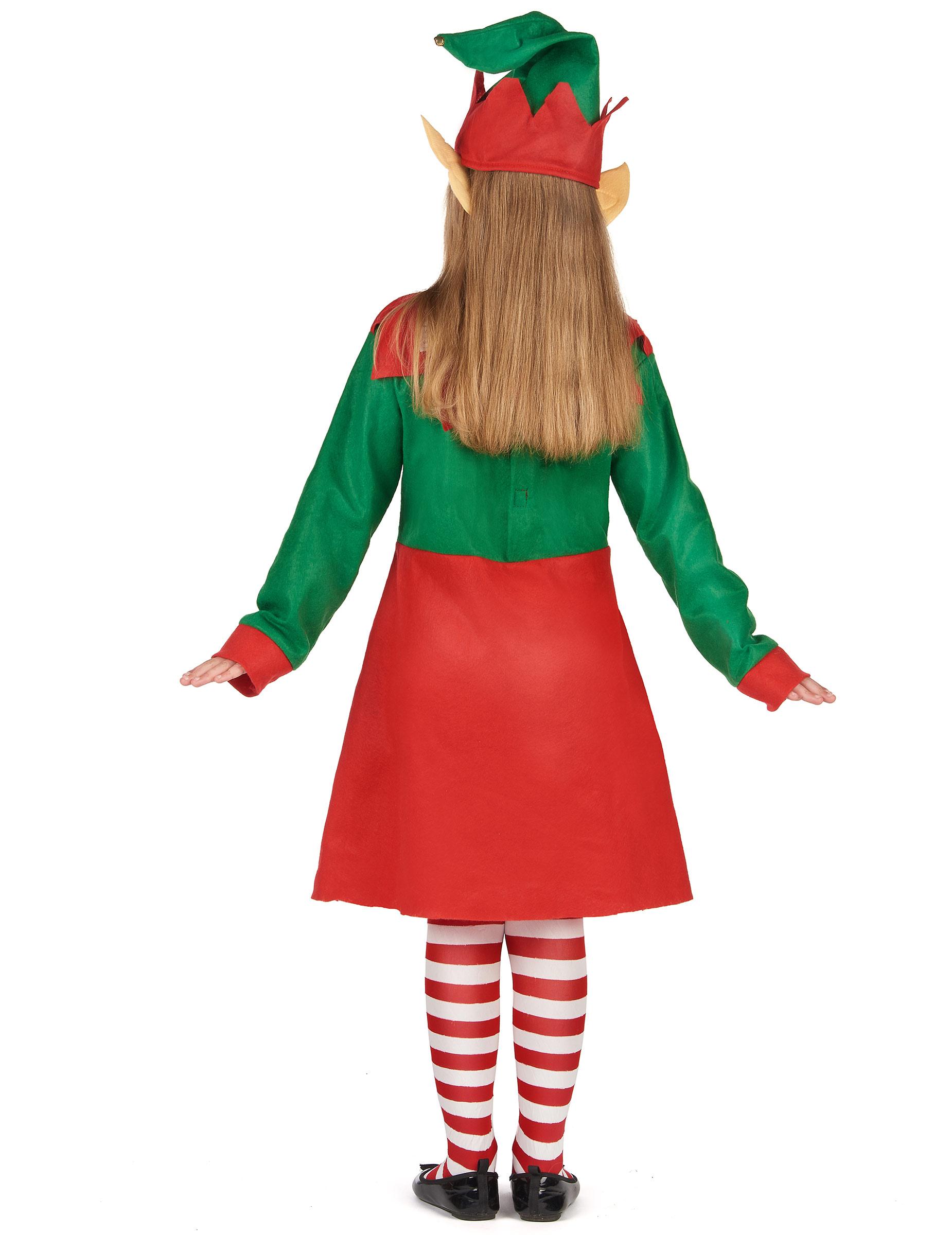 Costume da folletto di Natale per bambina  Costumi bambini c876fb9364ee