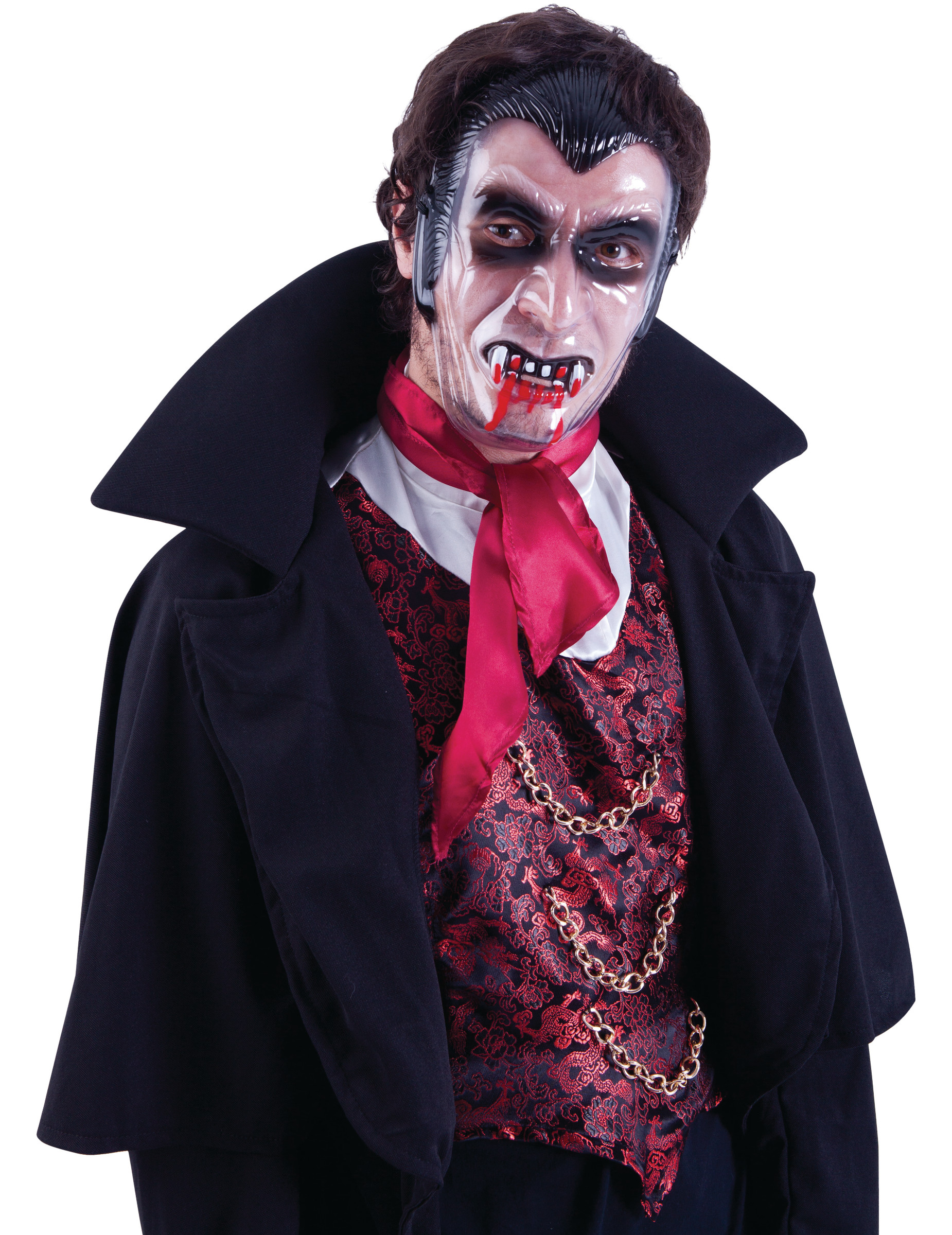 Conte Dracula PVC Bambini Maschera Vampiro Halloween Maschera Per Bambini