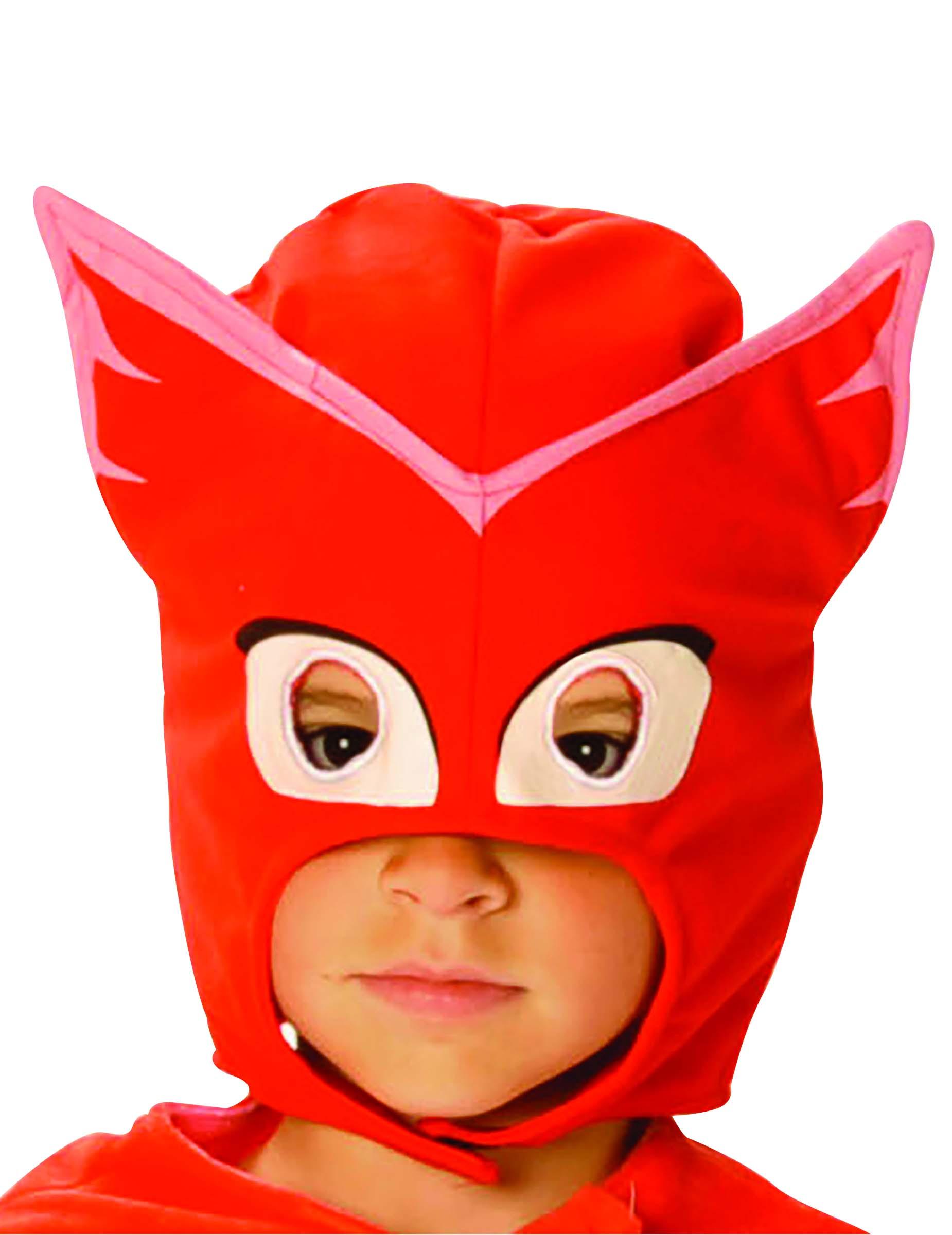 Maschera da gufetta dei super pigiamini per bambino for Immagini super pigiamini da stampare