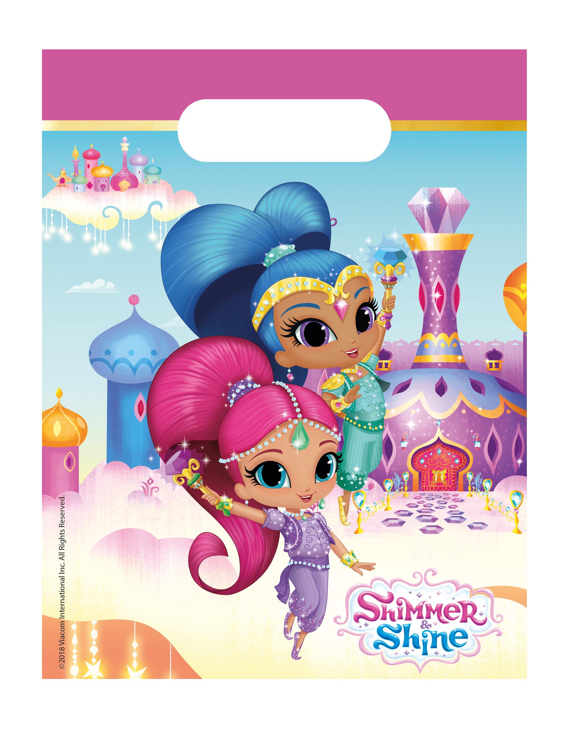 stili classici comprando ora sempre popolare 6 Buste regalo Shimmer and Shine™: Addobbi,e vestiti di carnevale ...