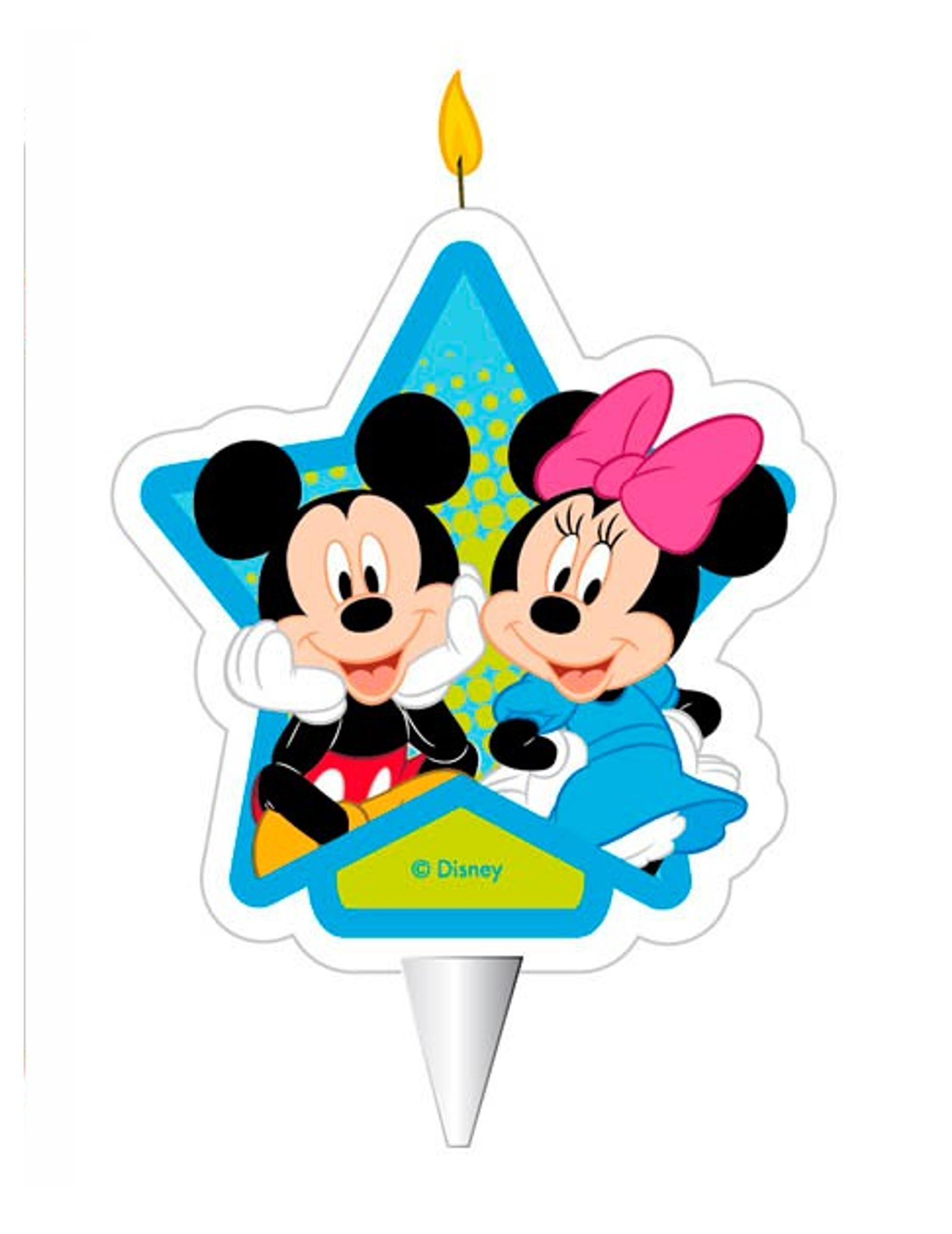 Candelina di compleanno Minnie e Topolino™: Addobbi,e vestiti di