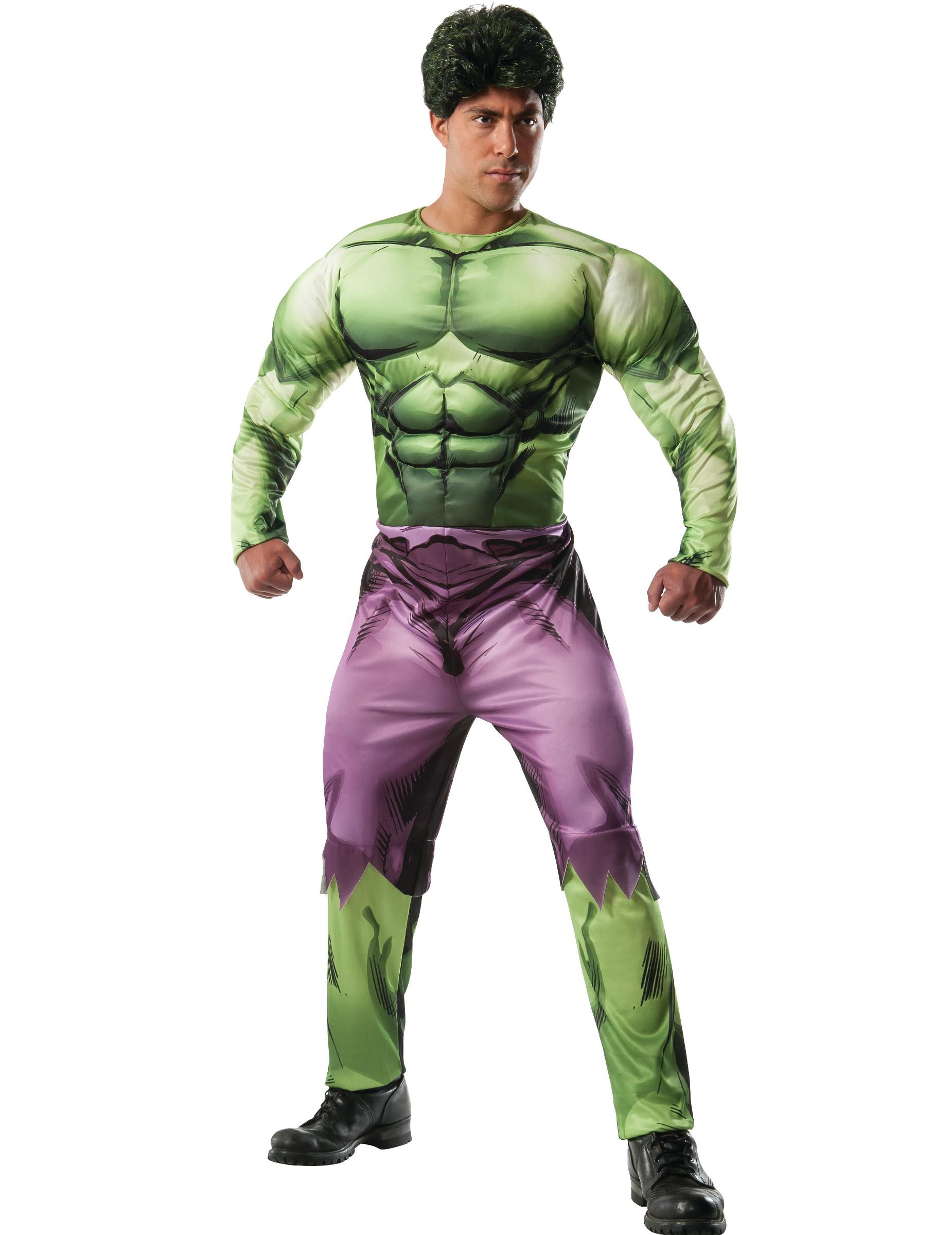 Costume deluxe hulk™ muscoloso per adulto costumi adulti e