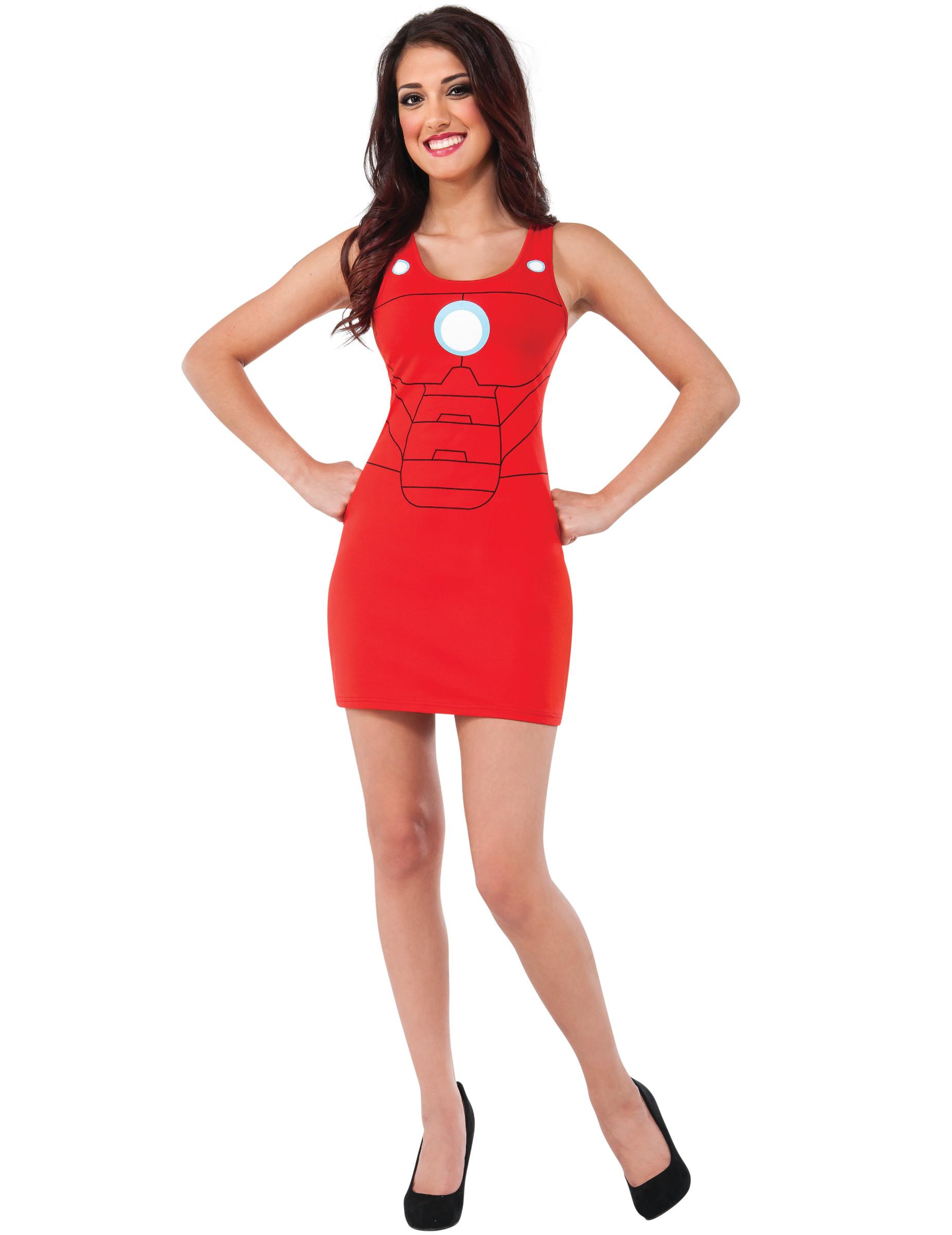 989e012a020e6 Costume vestito rosso Iron Man™ donna  Costumi adulti