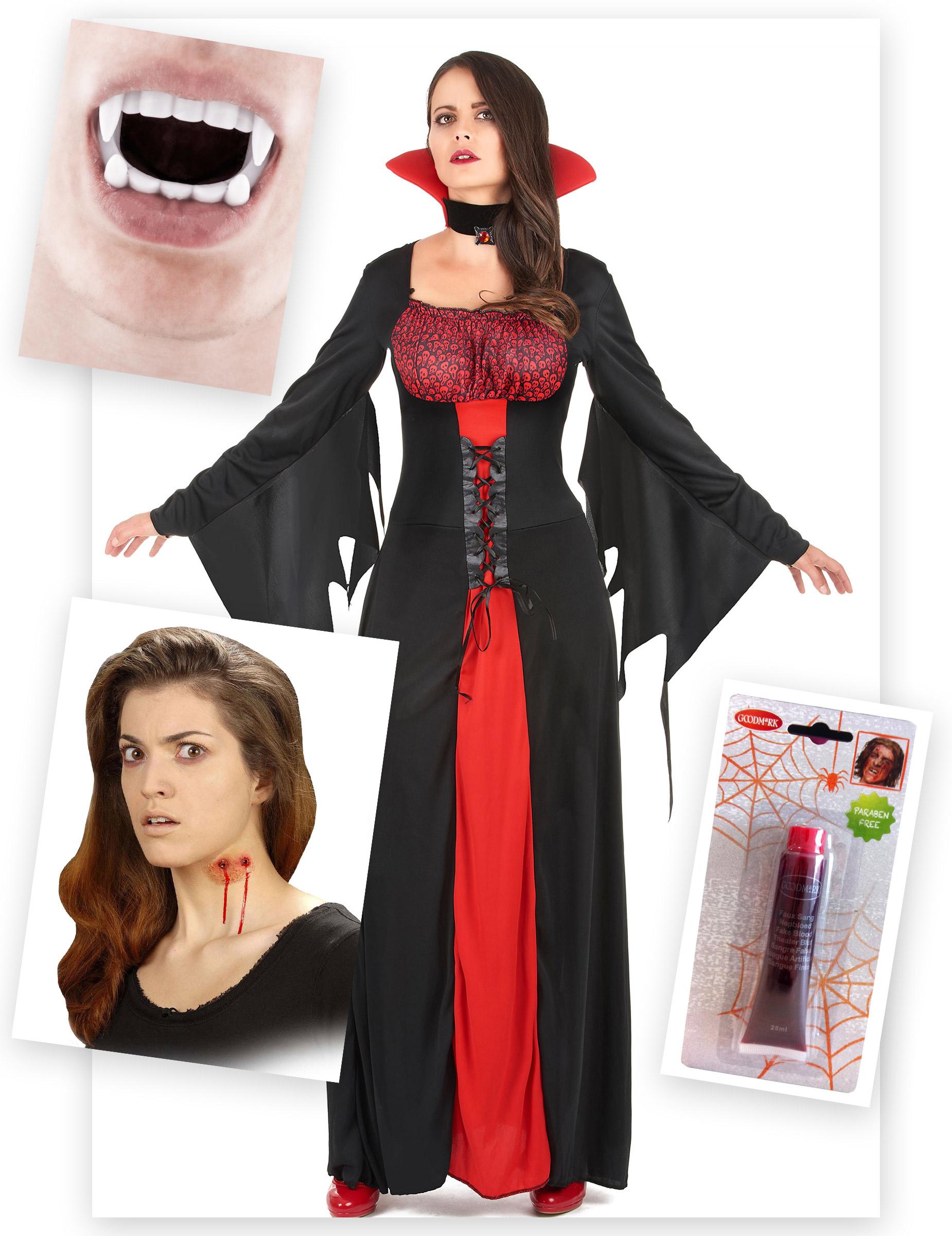 Kit travestimento da donna vampiro   Costumi adulti 04a5abfb336c