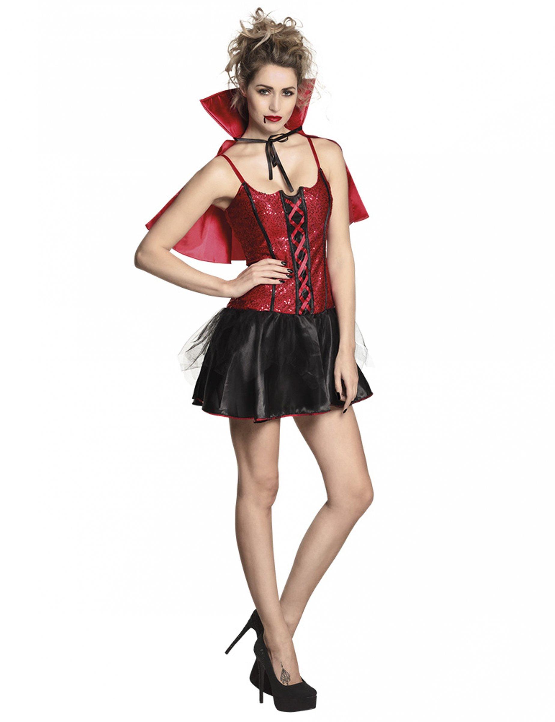 Assetati di sangue Vampiro Donna Halloween Vampiressa Costume Adulto Da Donna