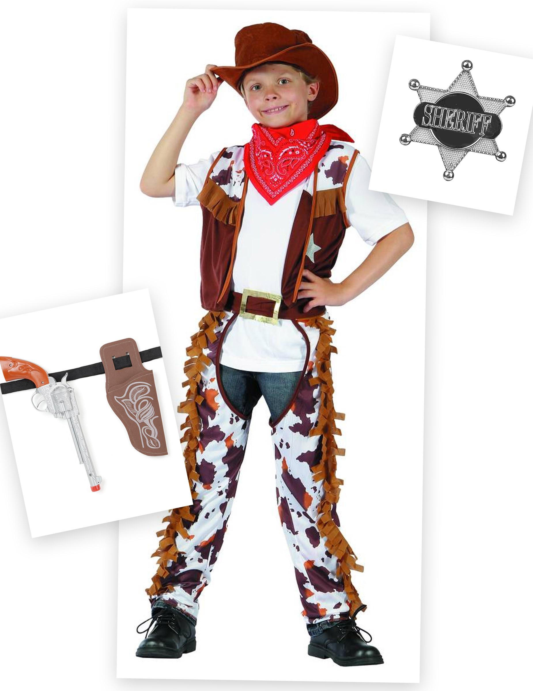 04ef7f5ef27c Set costume da Cowboy per bambino con accessori: Costumi bambini,e ...