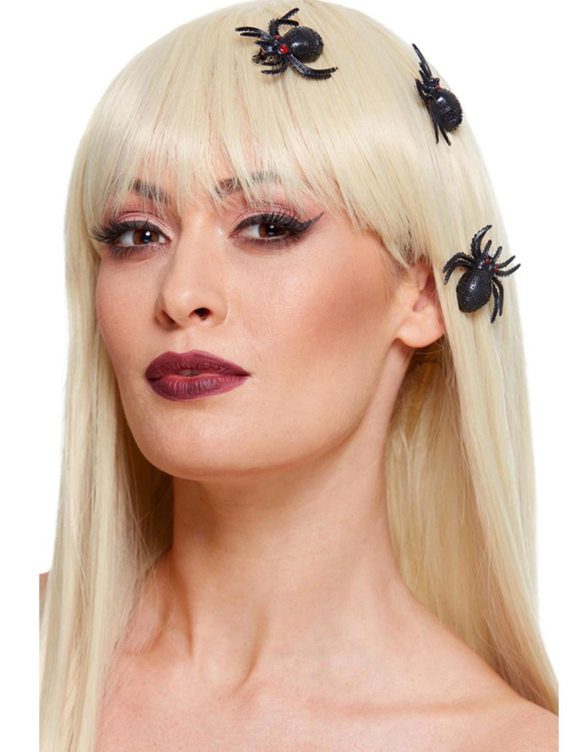 3 Fermagli per capelli ragni adulto: Accessori,e vestiti ...