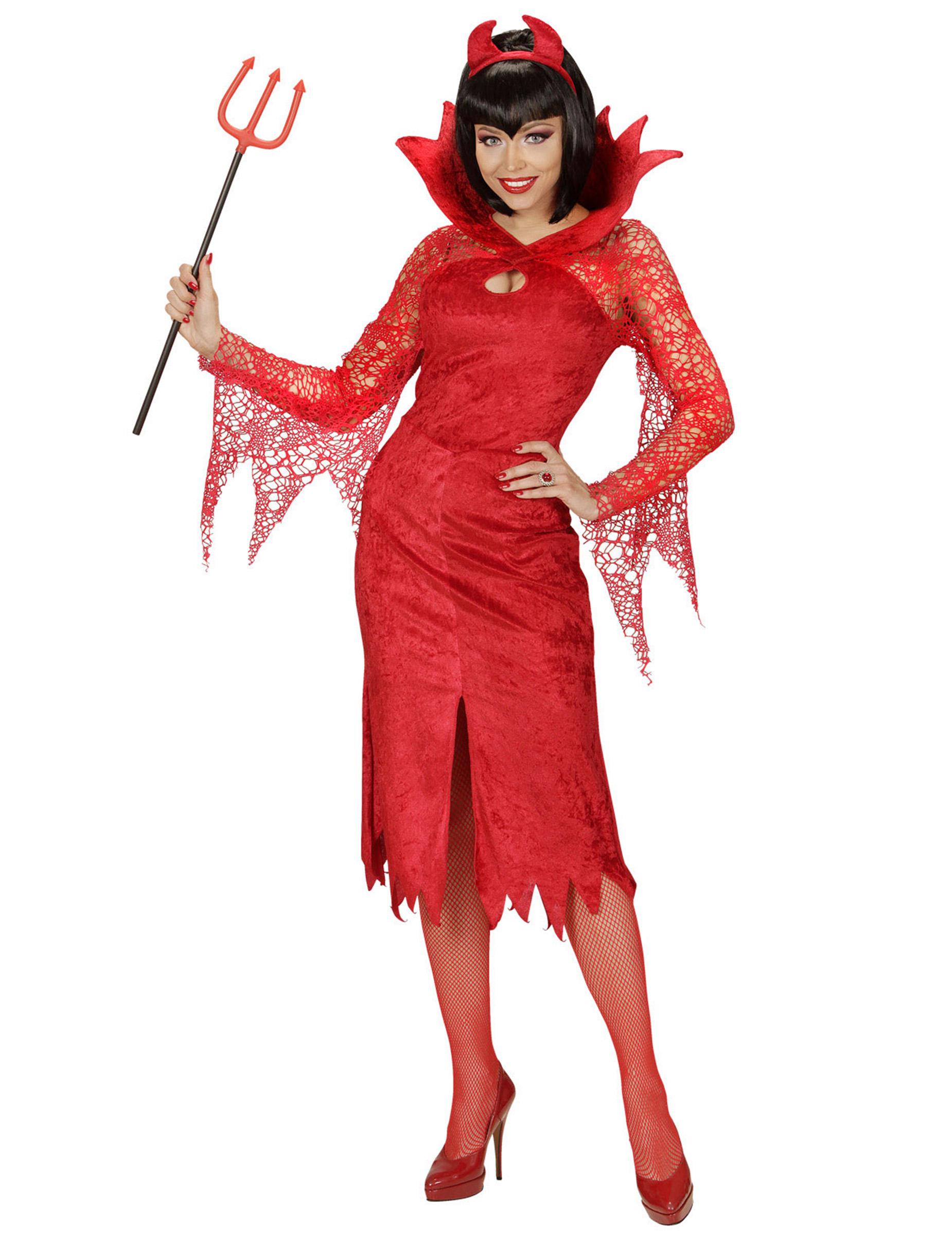 Costume Diavolo Donna Costumi Carnevale Donna Giacca Nero Rosso