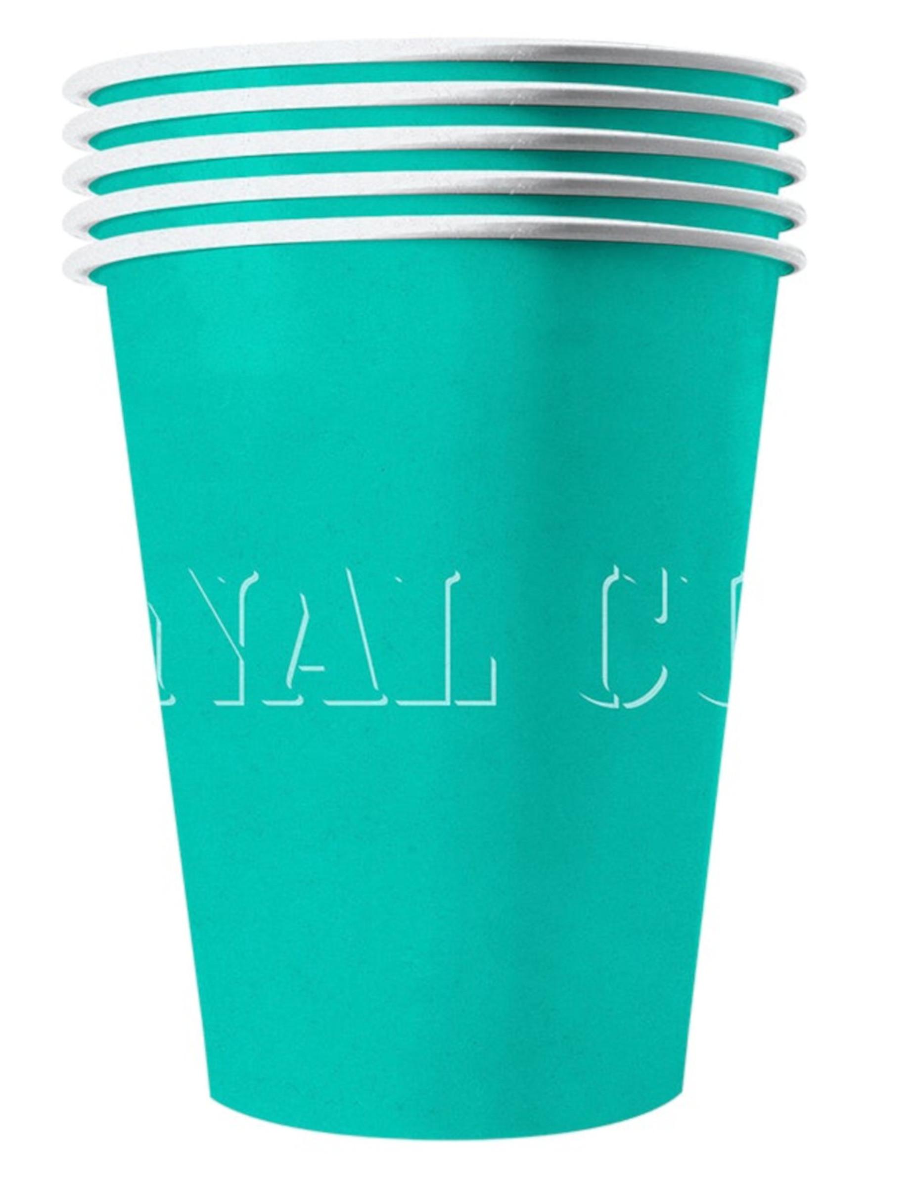 20 Bicchieri di cartone riciclabile turchese: Addobbi,e ...