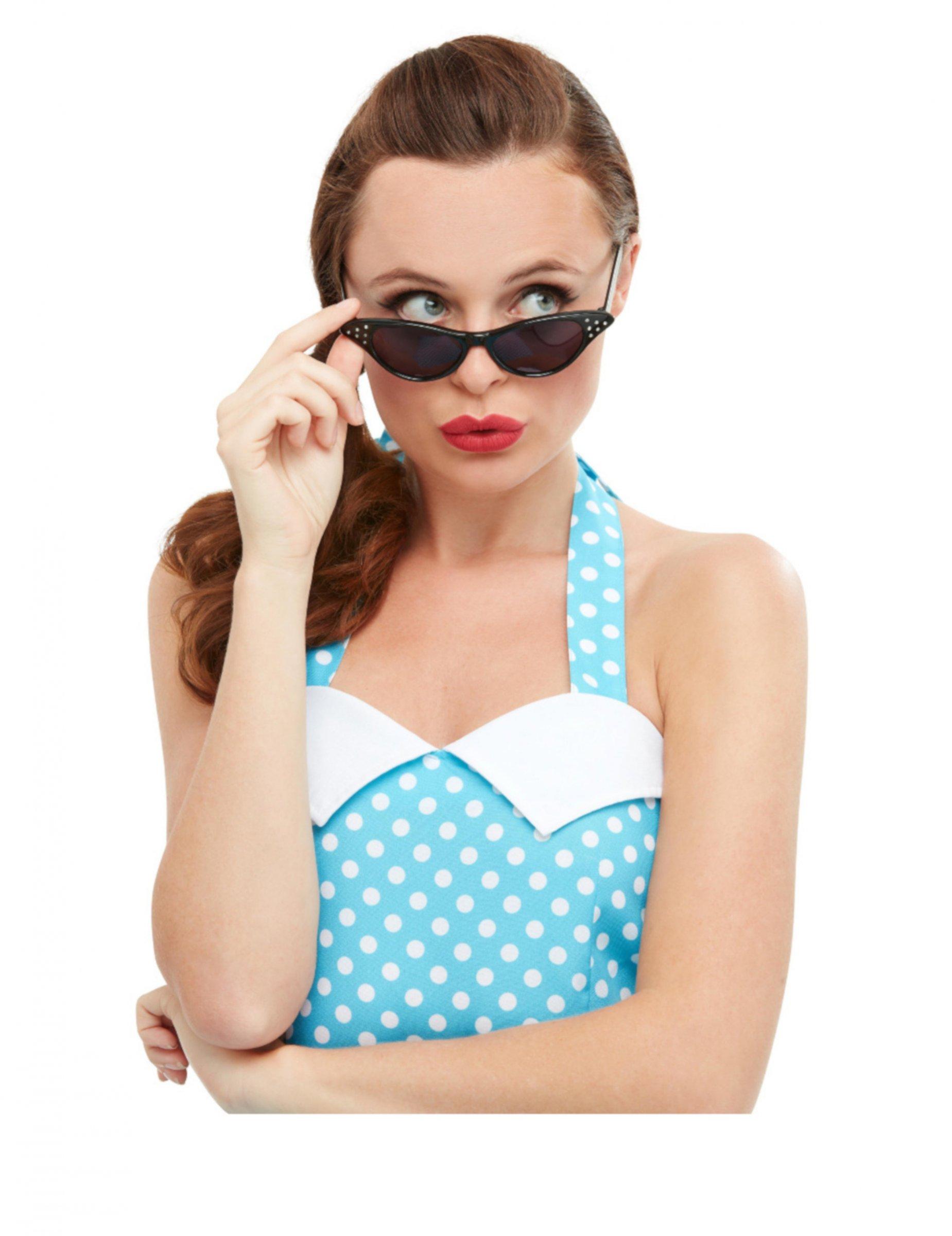 Occhiali retrò neri per donna: Accessori,e vestiti di ...