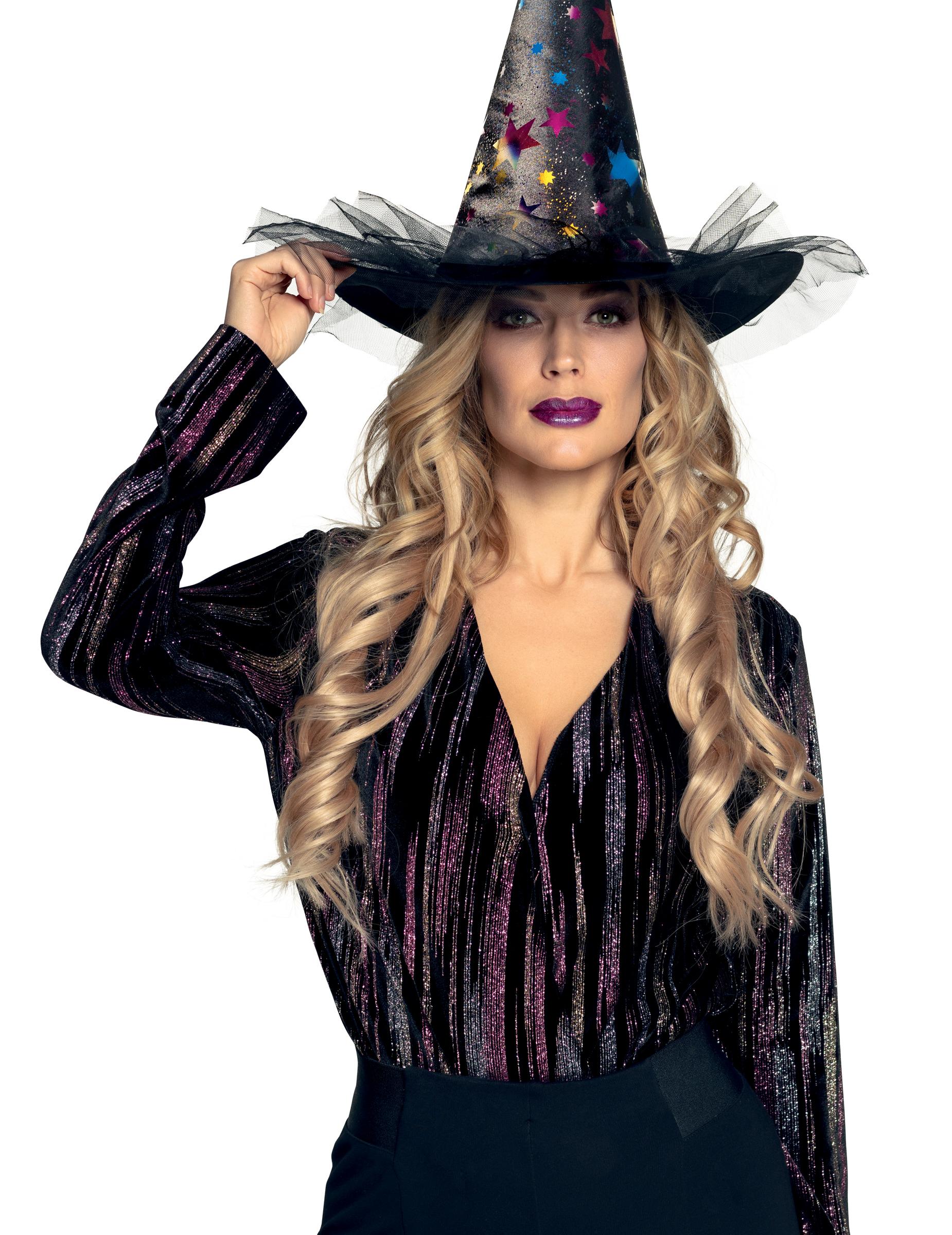 Cappello strega con stelle donna: Cappelli,e vestiti di ...
