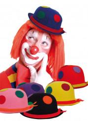 Cappello da clown a pois adulti