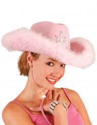 Cappello da cowgirl rosa da donna