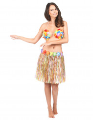Image of Gonna hawaiana multicolore adulti