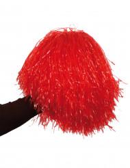 Pompon rosso metallizzato